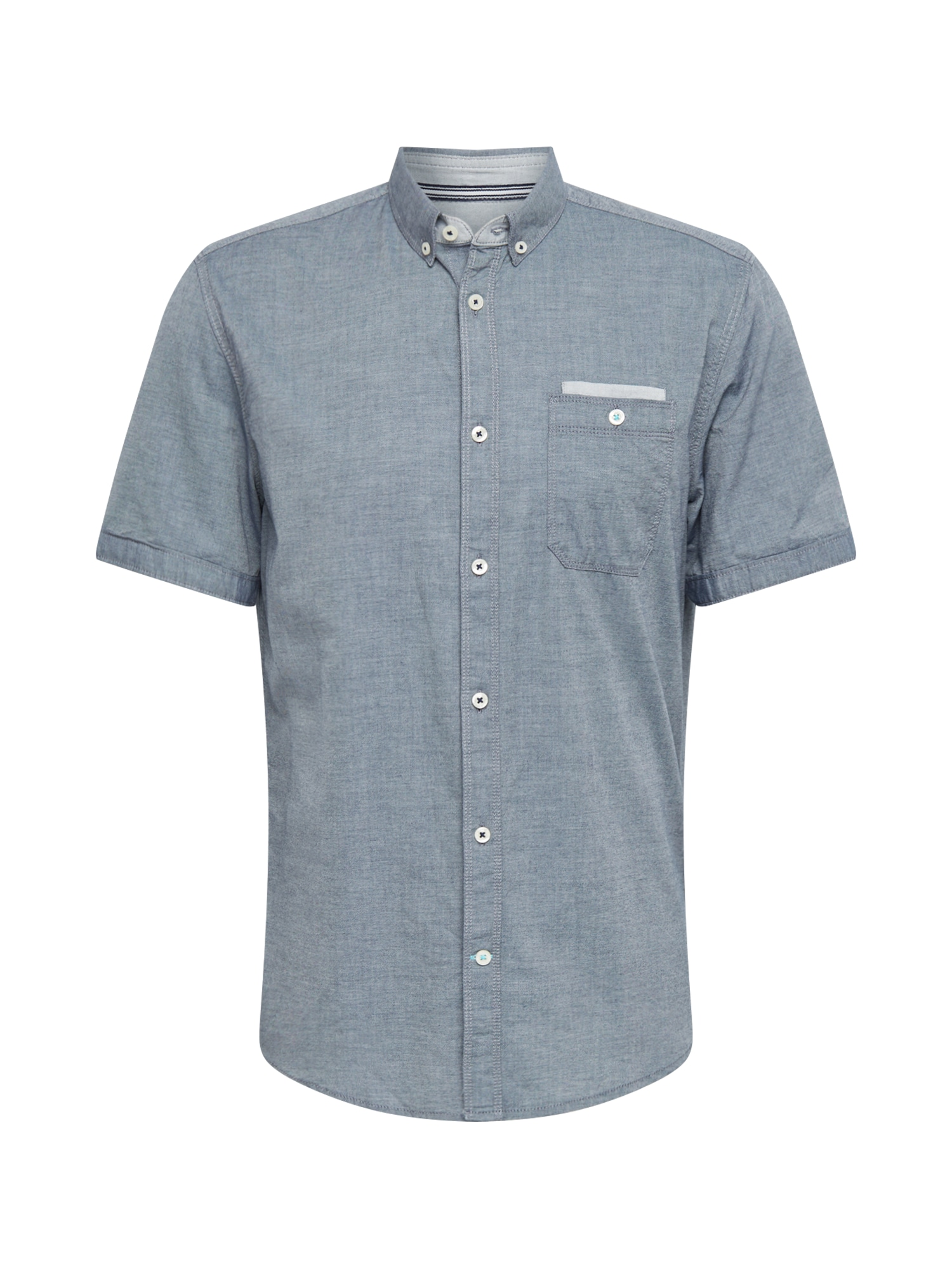 TOM TAILOR Košeľa  modrosivá / biela