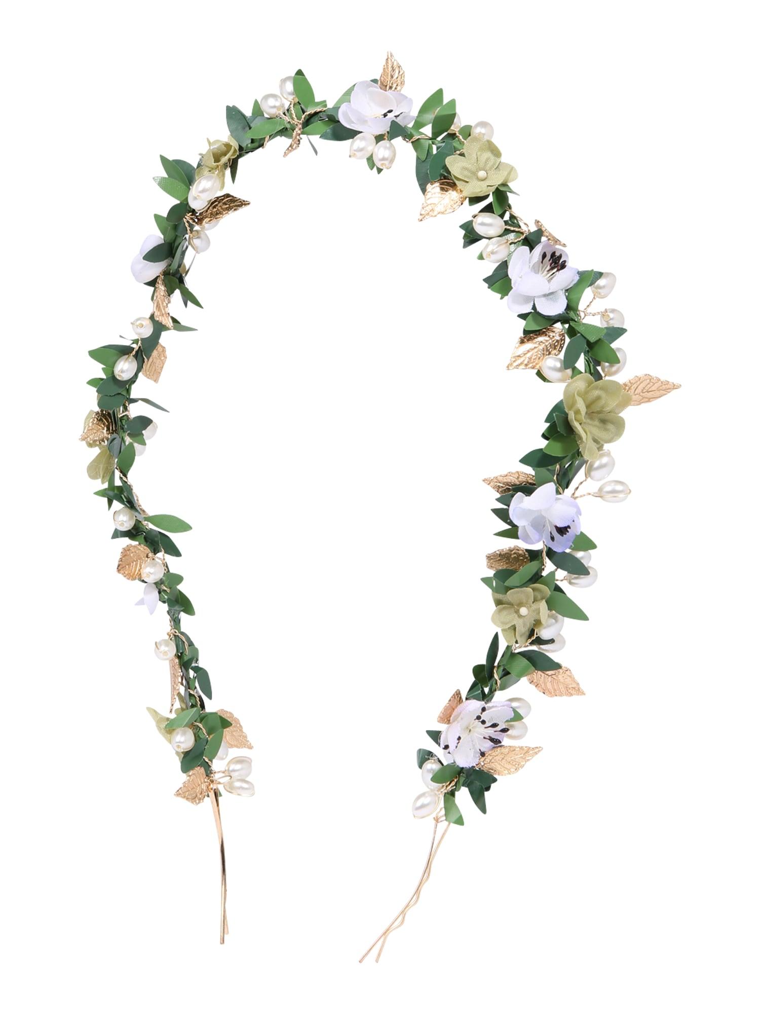 Šperky do vlasů Golden Aphrodite zlatá perlově bílá We Are Flowergirls