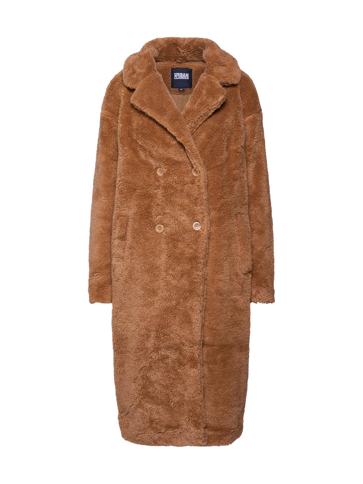 Urban Classics Žieminis paltas zomšos spalva