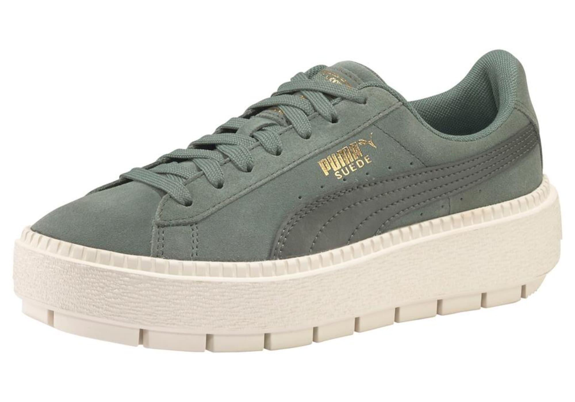 Aboutyousale Trace Jr Platform Puma Ecowxbrd Gold Damen Suede Sneaker stChQrd
