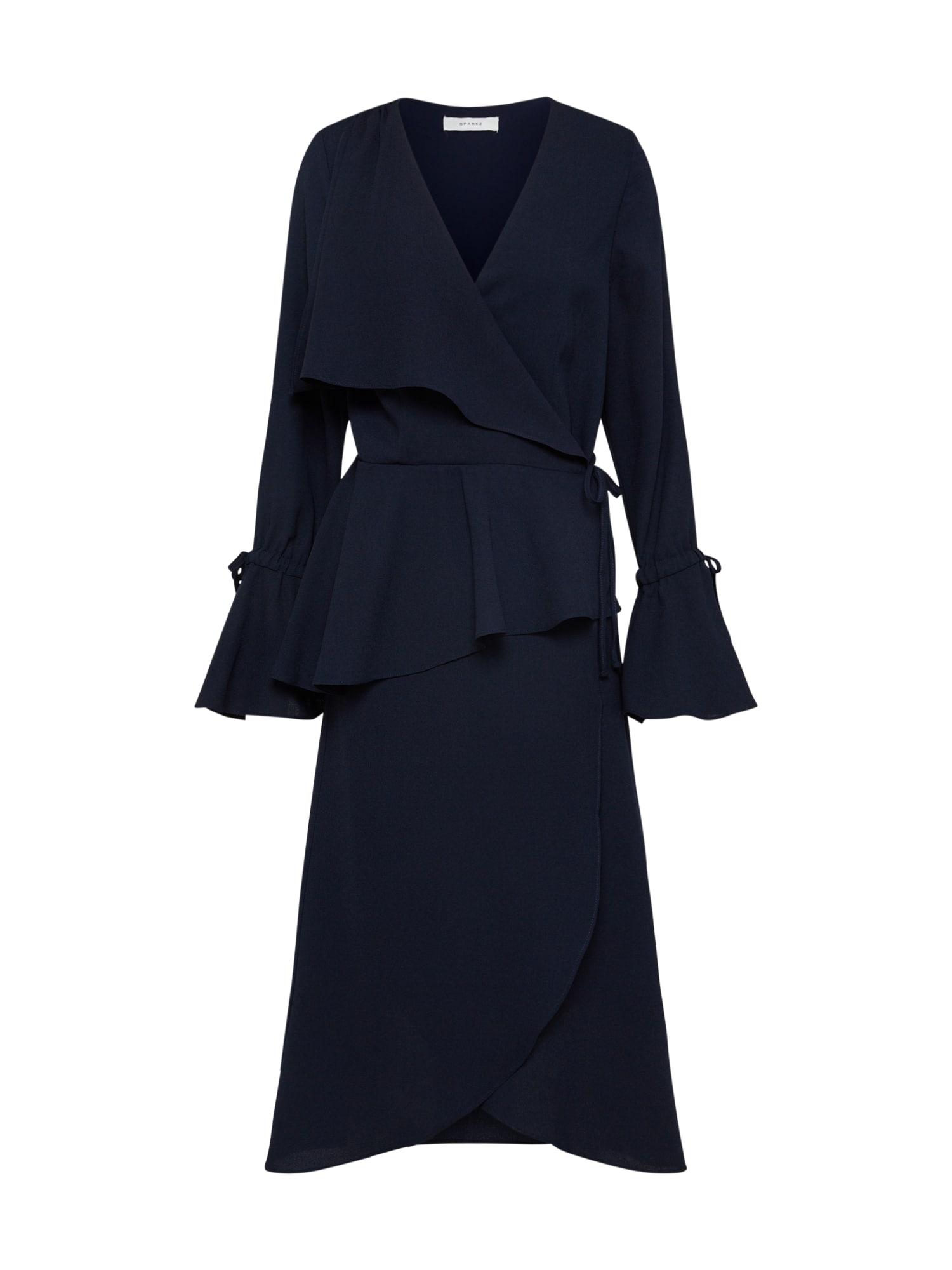 Koktejlové šaty Nomi námořnická modř Sparkz