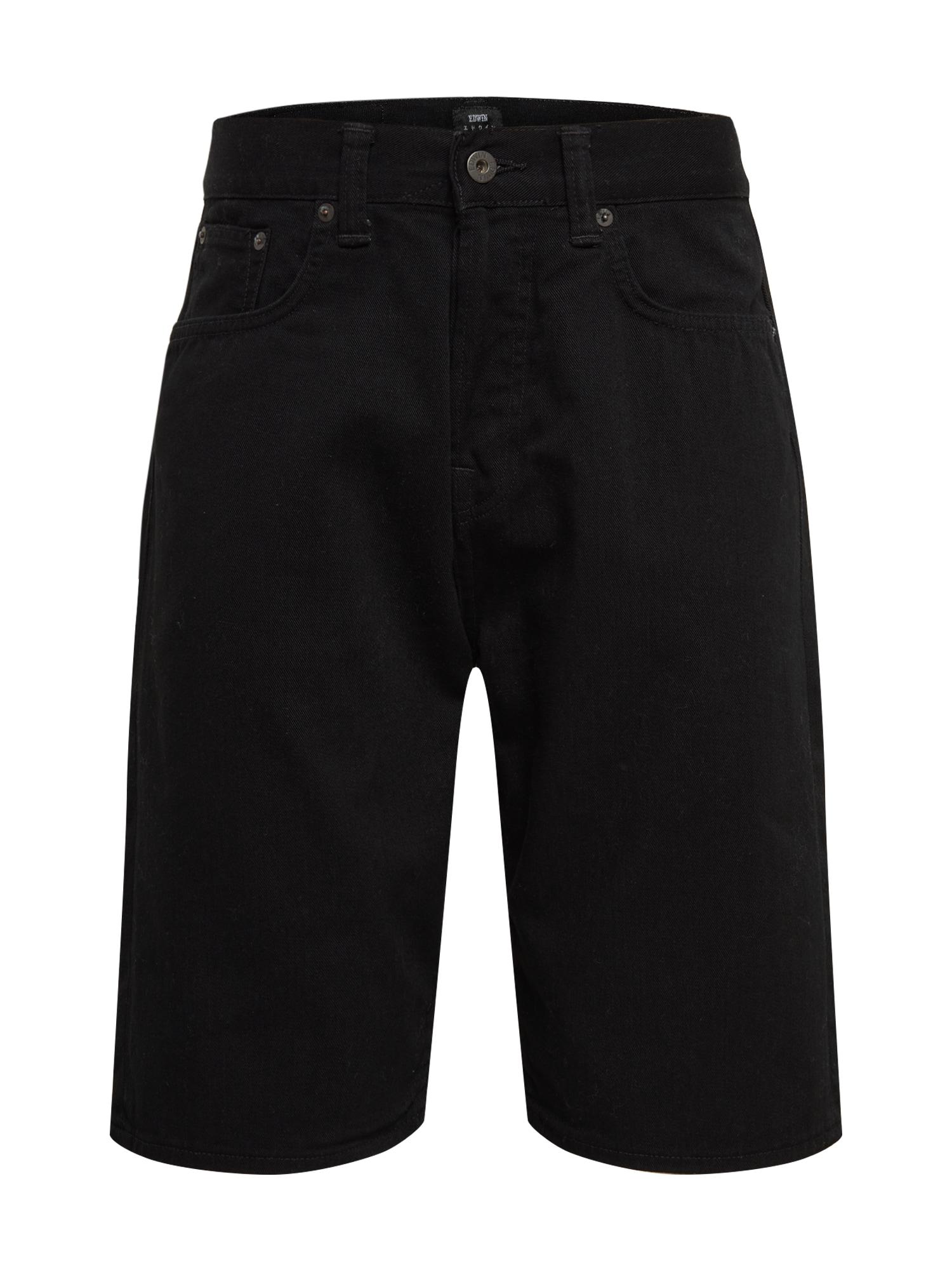 EDWIN Džinsai 'ED-45 Short' juodo džinso spalva