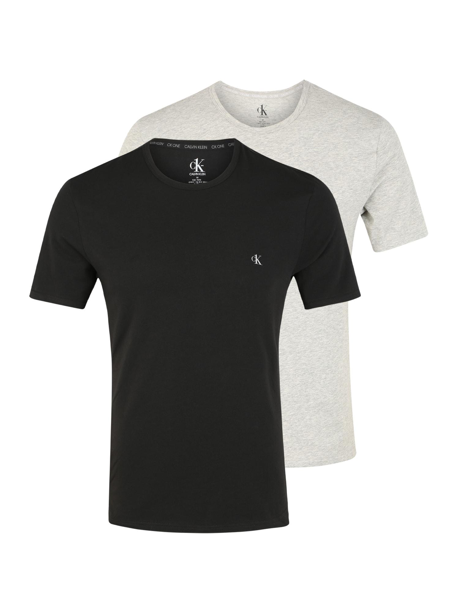 Calvin Klein Underwear Apatiniai marškinėliai juoda / pilka