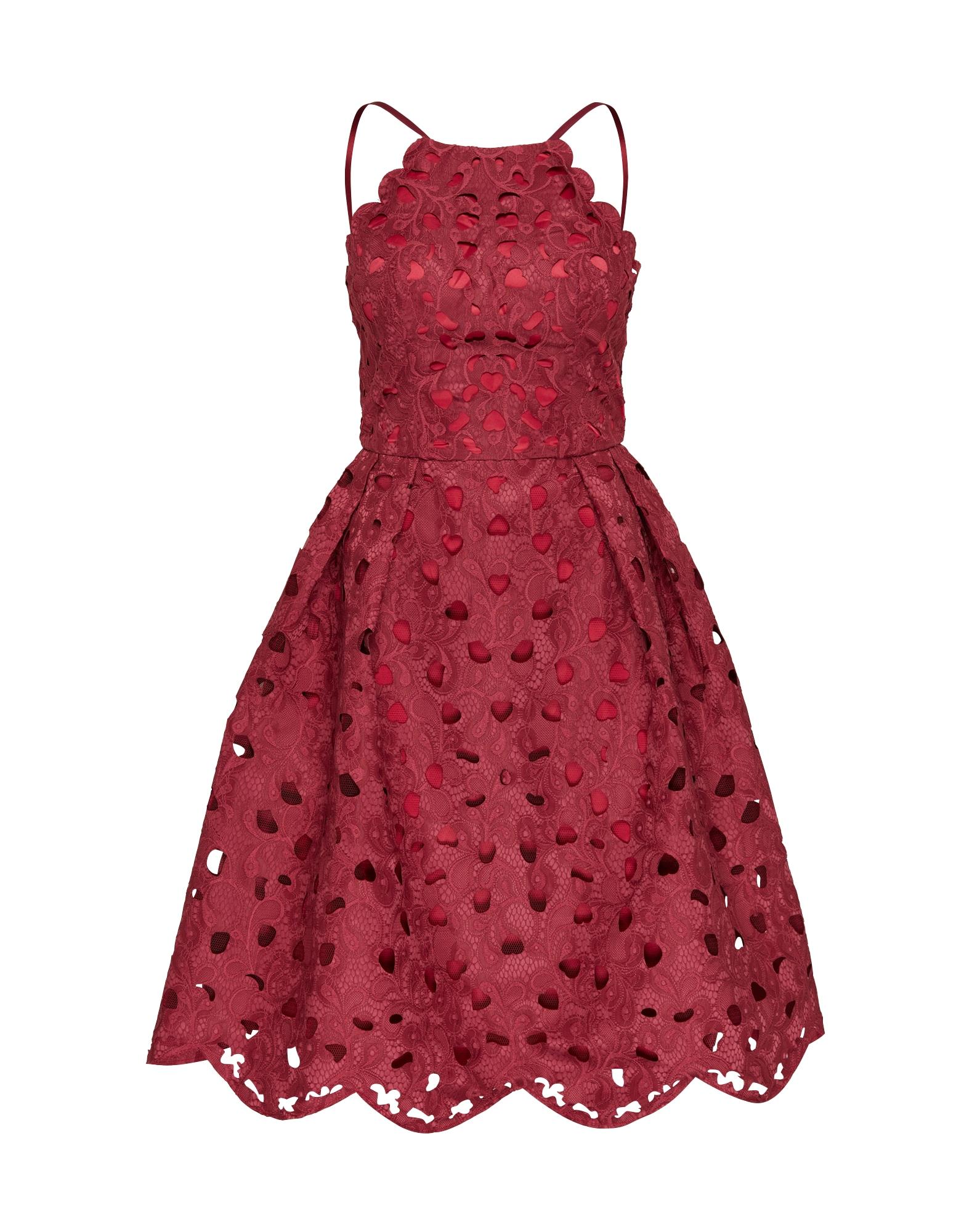 Koktejlové šaty tmavě červená Chi Chi London