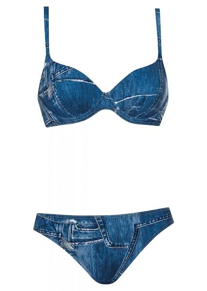 Bademode - Bikini 'Olympia Bikini Make' › Olympia › blau weiß dunkelblau  - Onlineshop ABOUT YOU