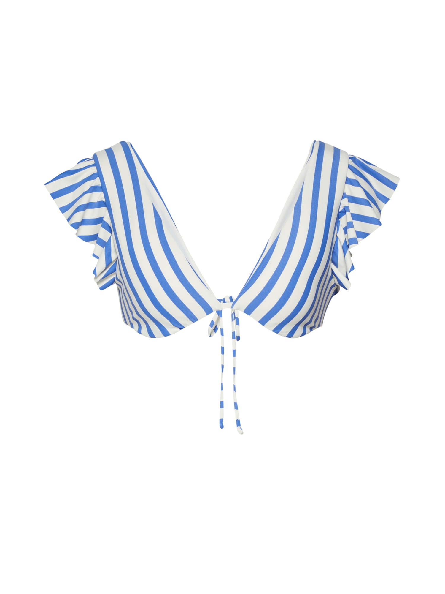 BILLABONG Bikinio viršutinė dalis 'blue by u plunge' balta / mėlyna