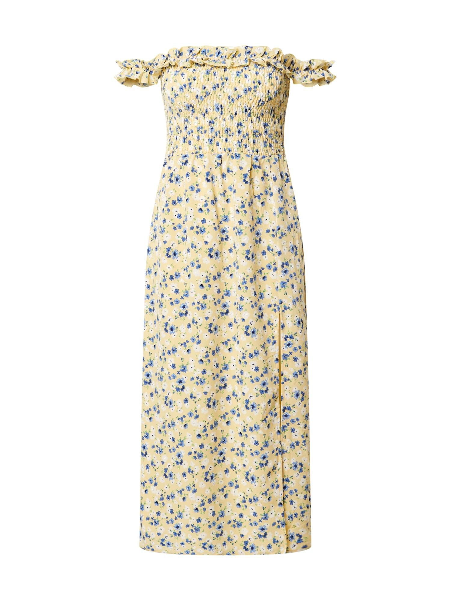 Fashion Union Letné šaty 'Ashanti'  žlté