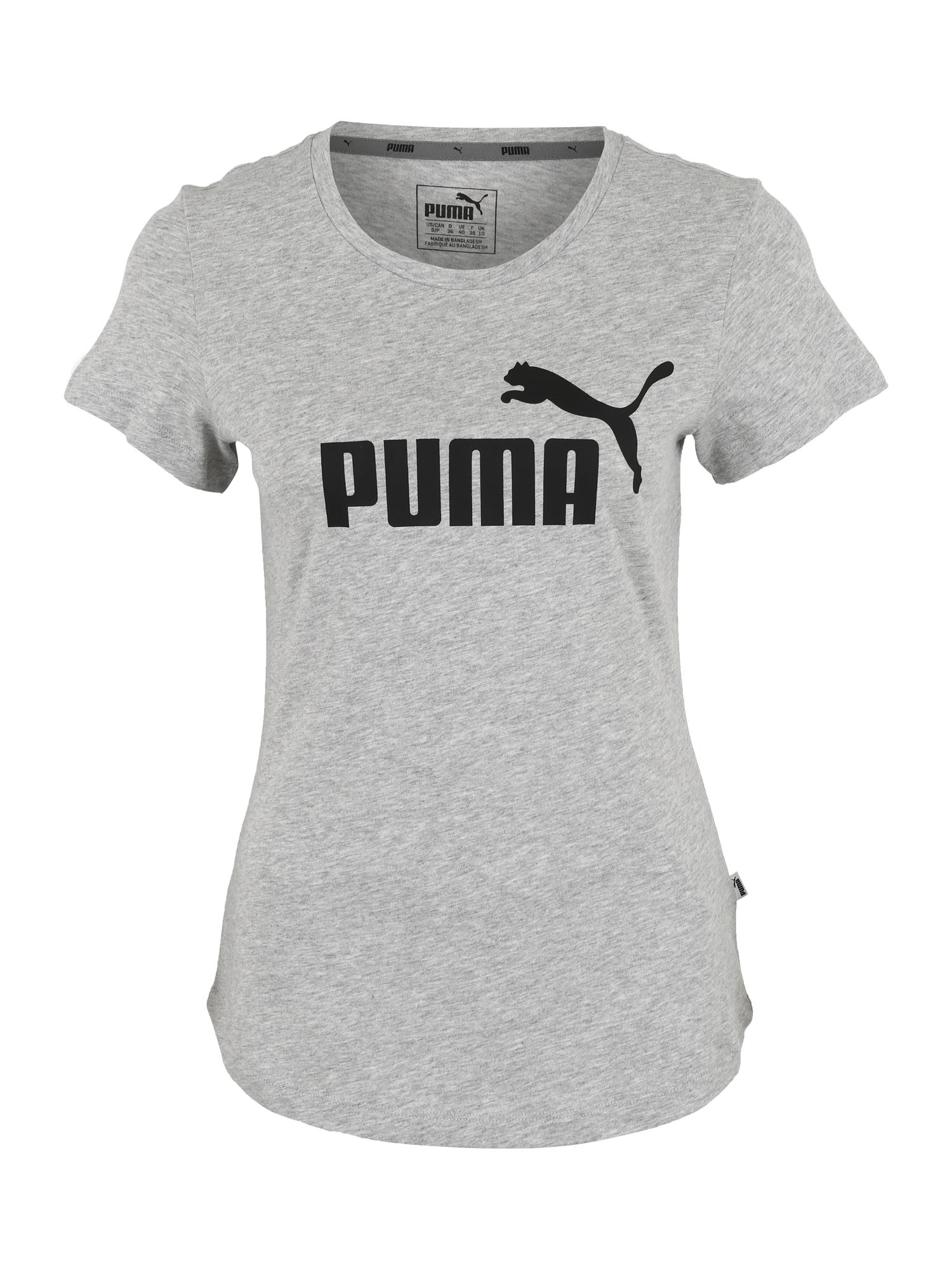 PUMA Funkčné tričko  sivá / čierna