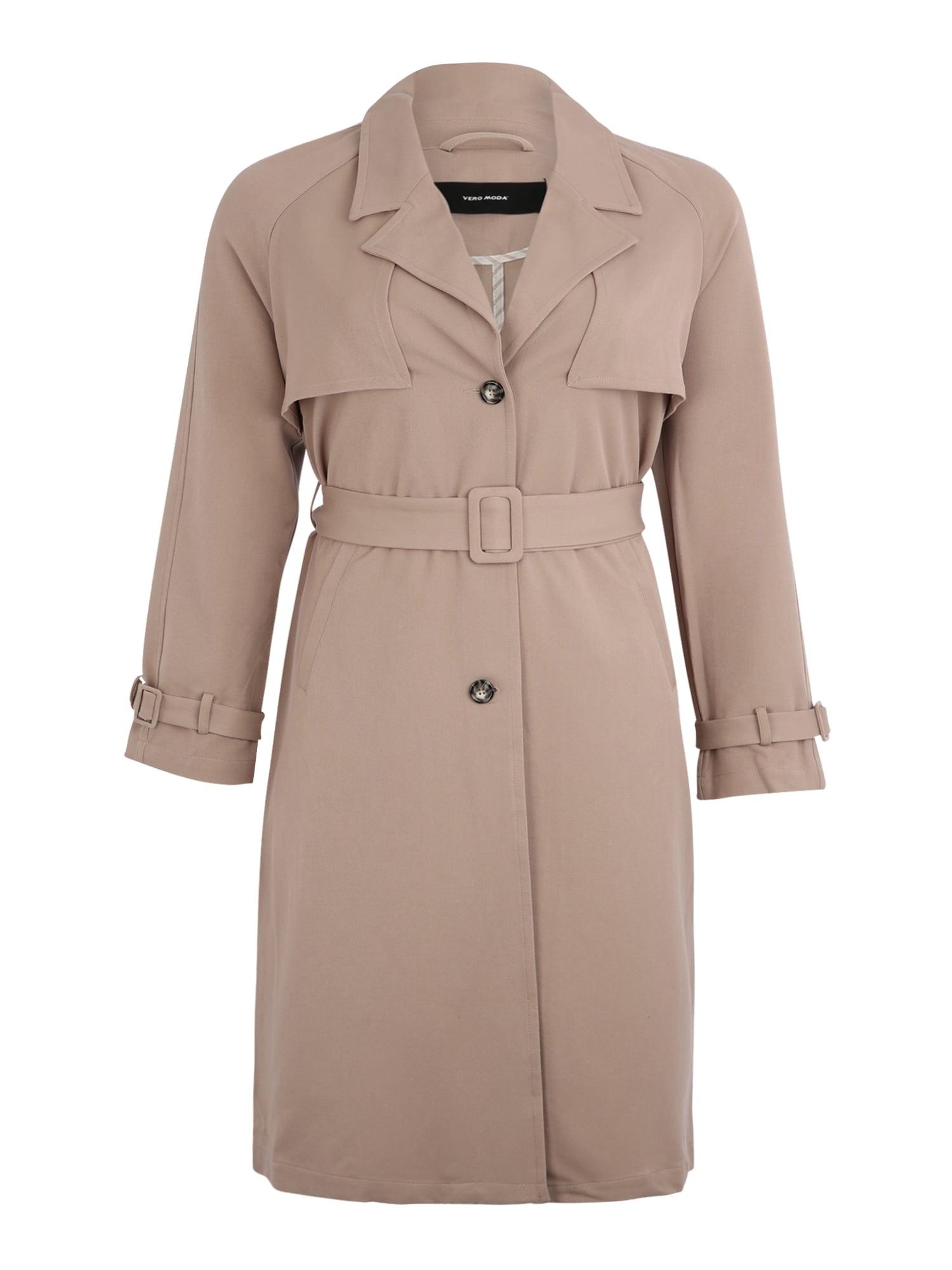 Vero Moda Curve Rudeninis-žieminis paltas 'DONNA EXPORT' smėlio