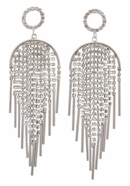 Ohrringe für Frauen - J. Jayz Ohrstecker silber transparent  - Onlineshop ABOUT YOU