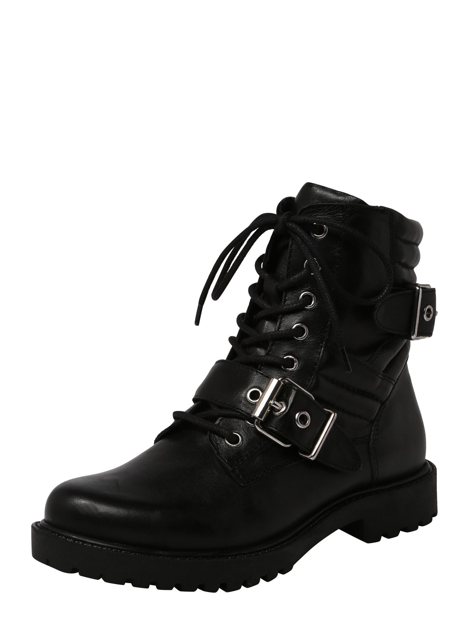 ABOUT YOU Suvarstomieji kulkšnis dengiantys batai 'Selena' juoda