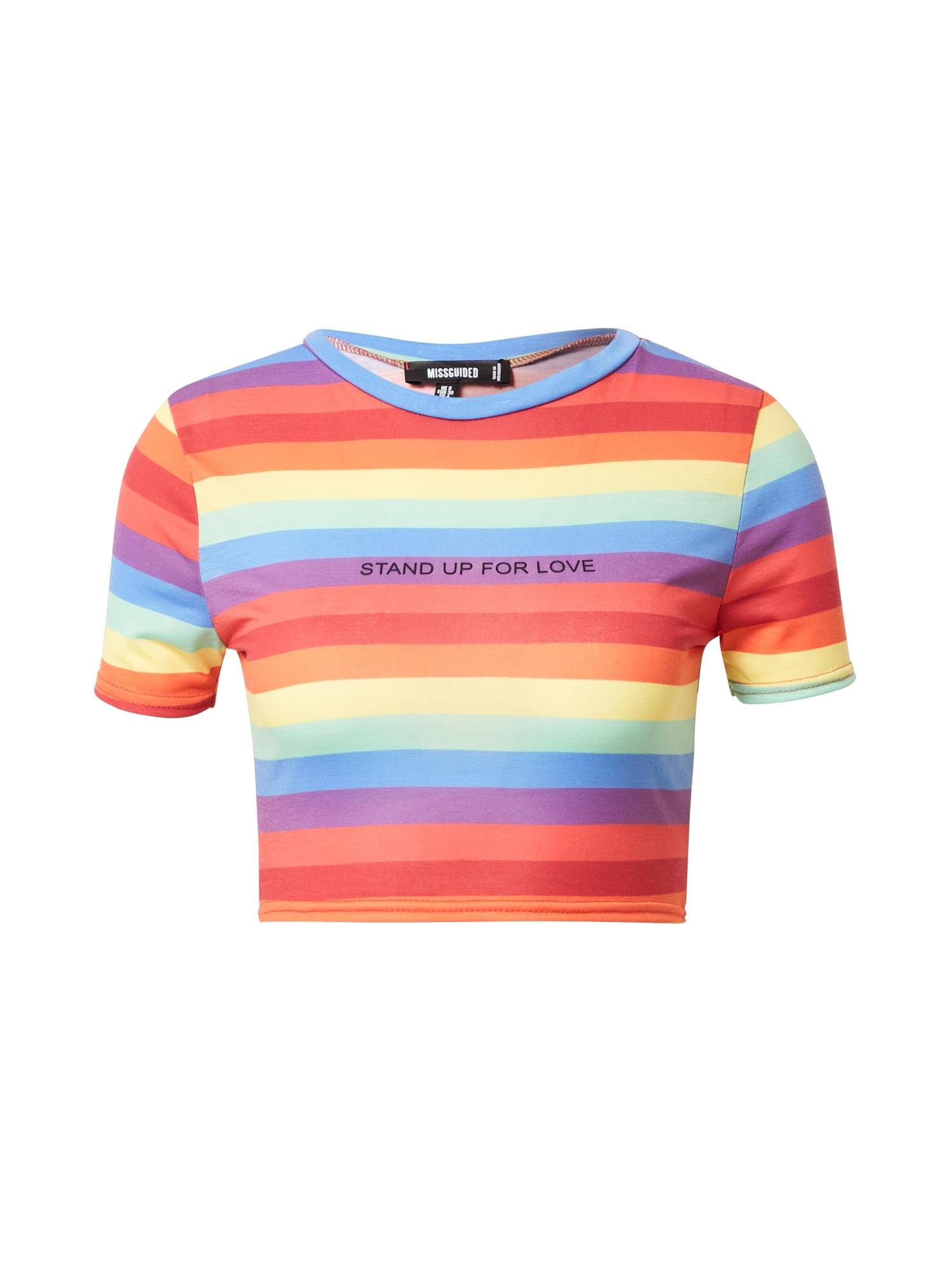 Missguided Póló 'Pride Rainbow Stripe'  vegyes színek