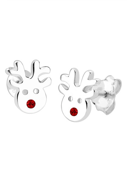 Ohrringe für Frauen - ELLI Ohrringe 'Hirsch' rot silber  - Onlineshop ABOUT YOU