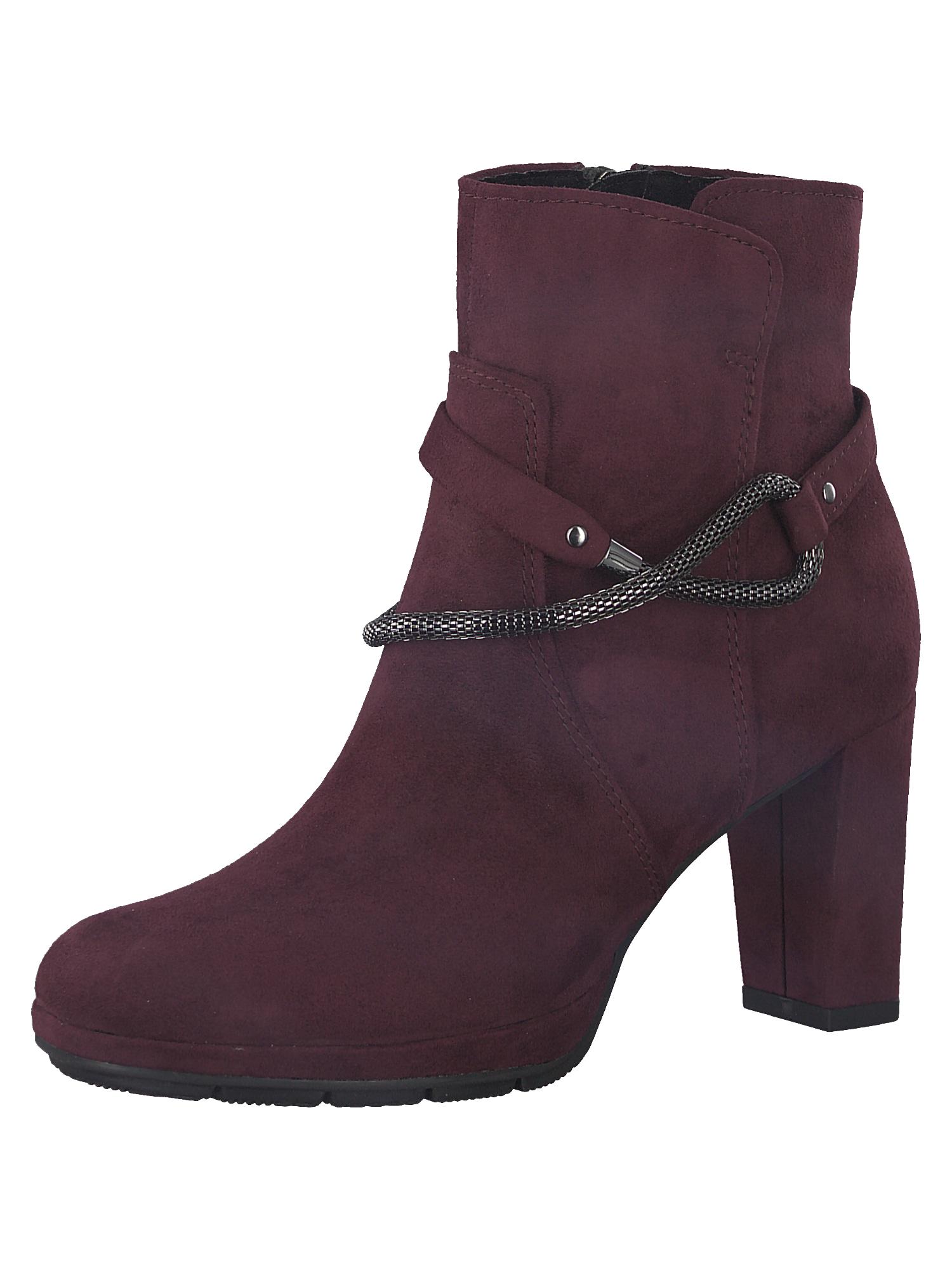 Kotníkové boty bordó MARCO TOZZI