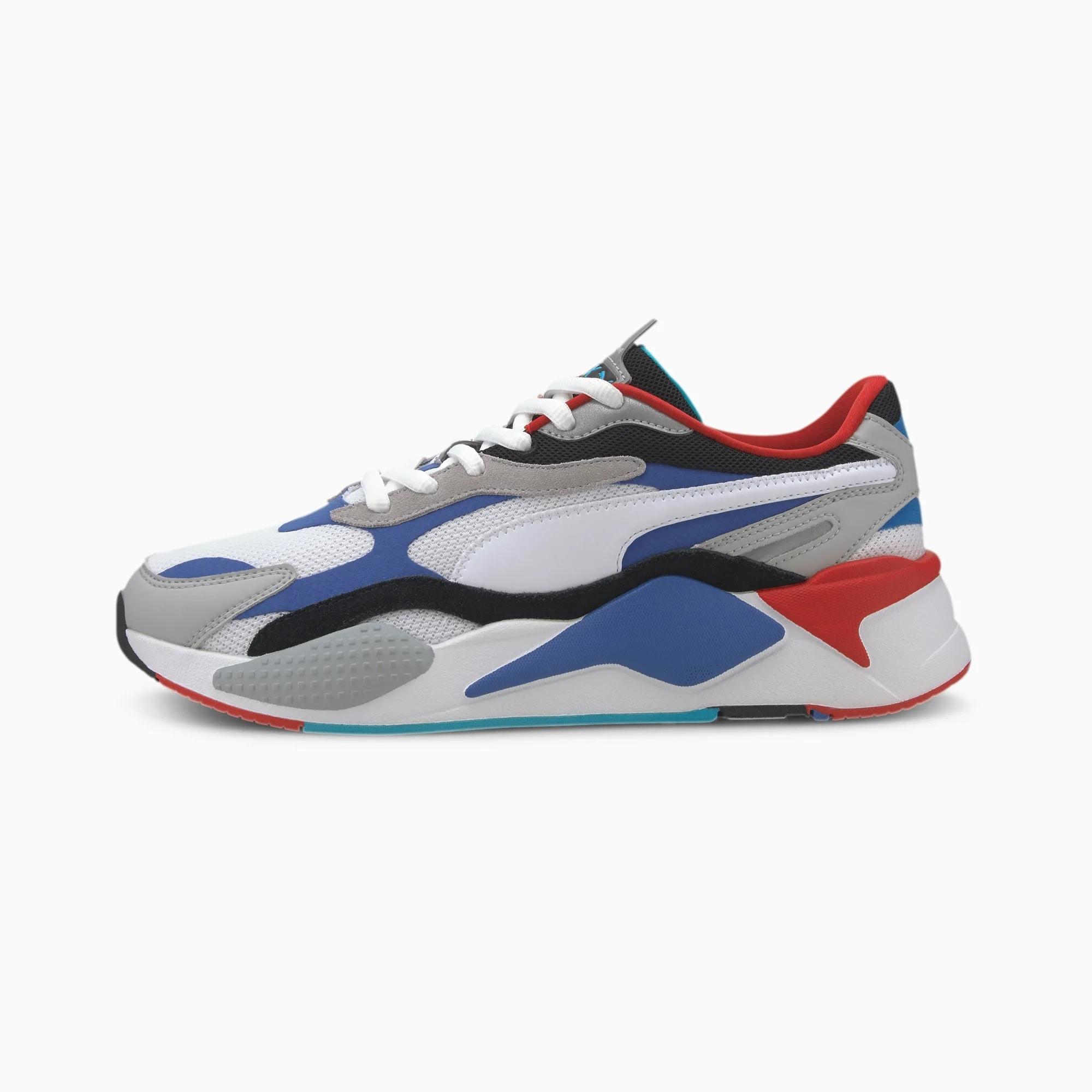 PUMA Nízke tenisky 'RS-X³ PUZZLE'  modré / sivá / červené