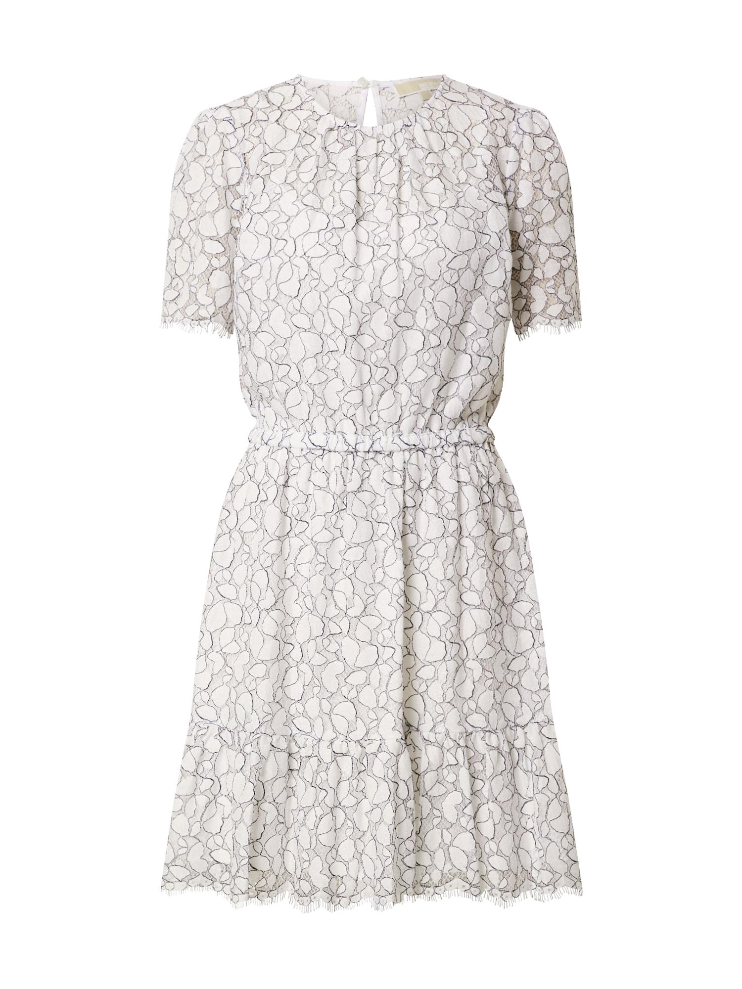 MICHAEL Michael Kors Vasarinė suknelė 'Flounce' balta / juoda