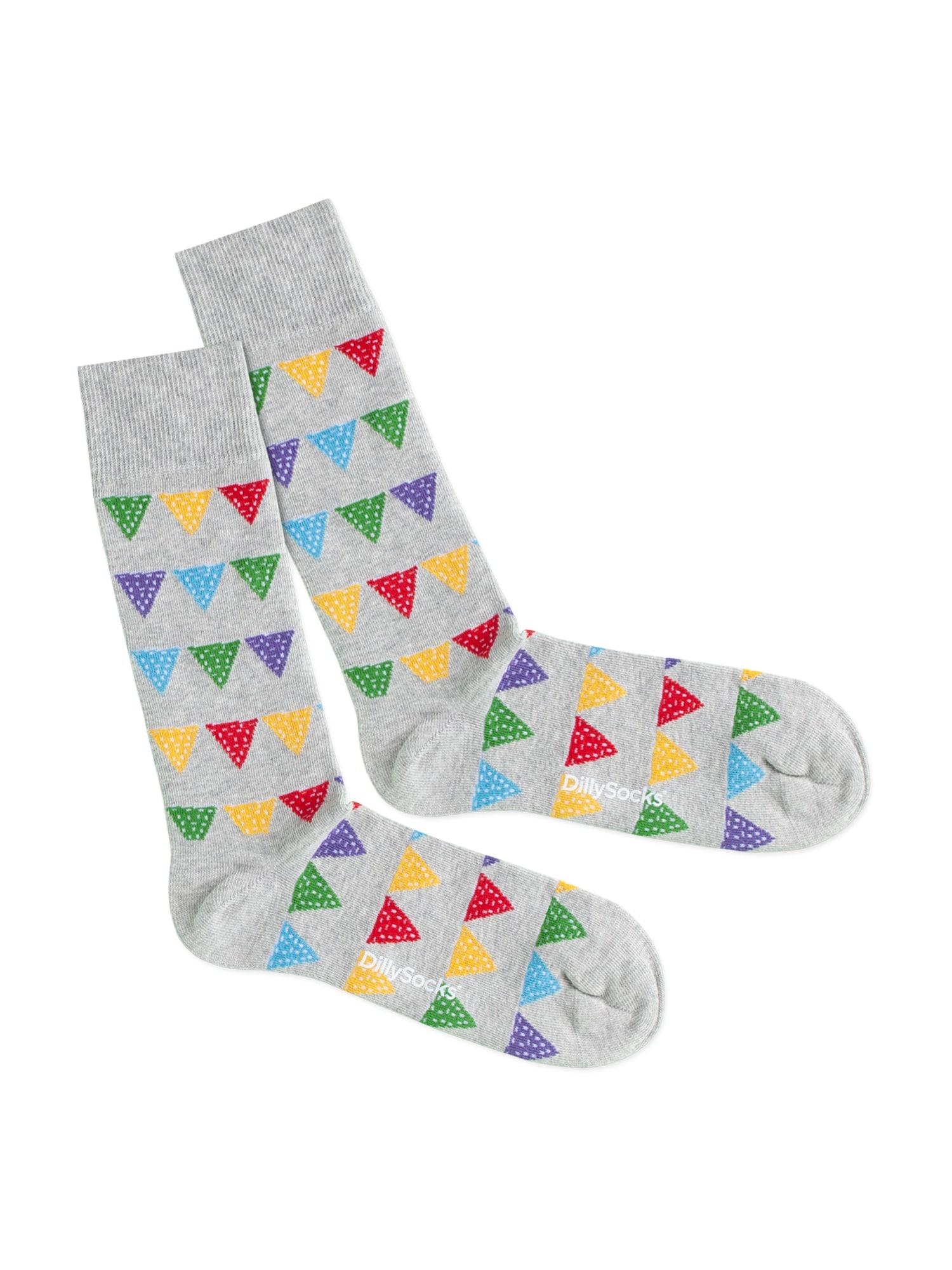 DillySocks Kojinės 'Party Flags' mišrios spalvos