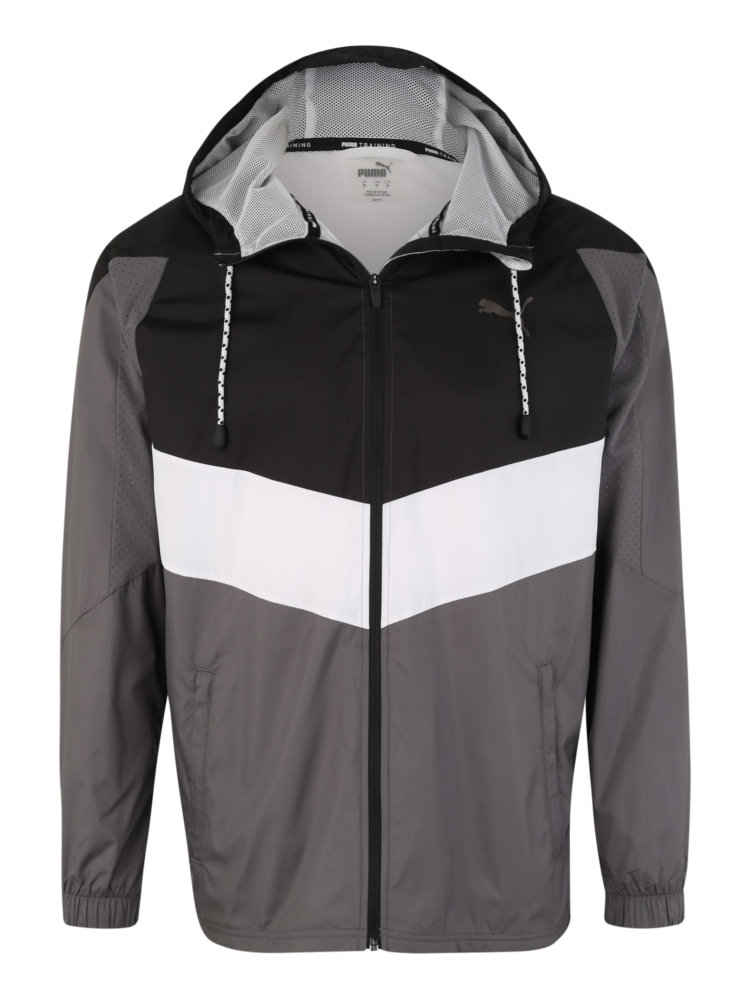 Sportovní bunda Reactive tmavě šedá černá bílá PUMA