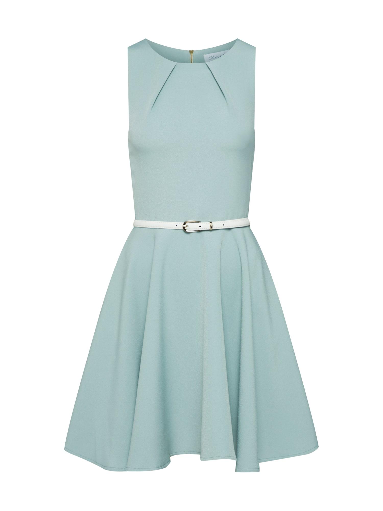 Closet London Kokteilinė suknelė kremo / šviesiai žalia