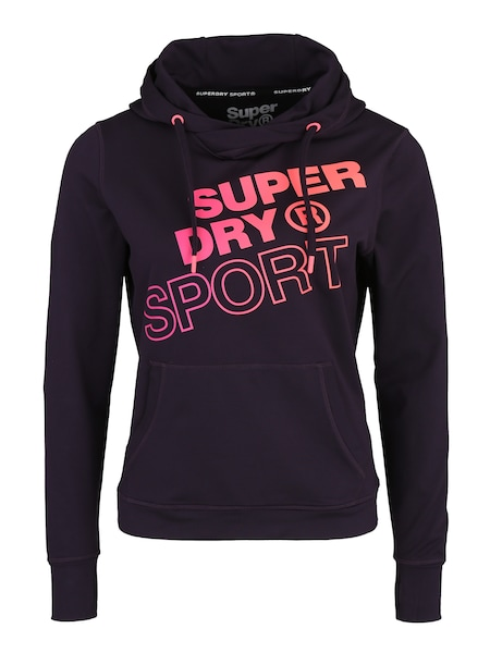 Sportmode für Frauen - Hoodie 'CORE' › Superdry › pink schwarz  - Onlineshop ABOUT YOU