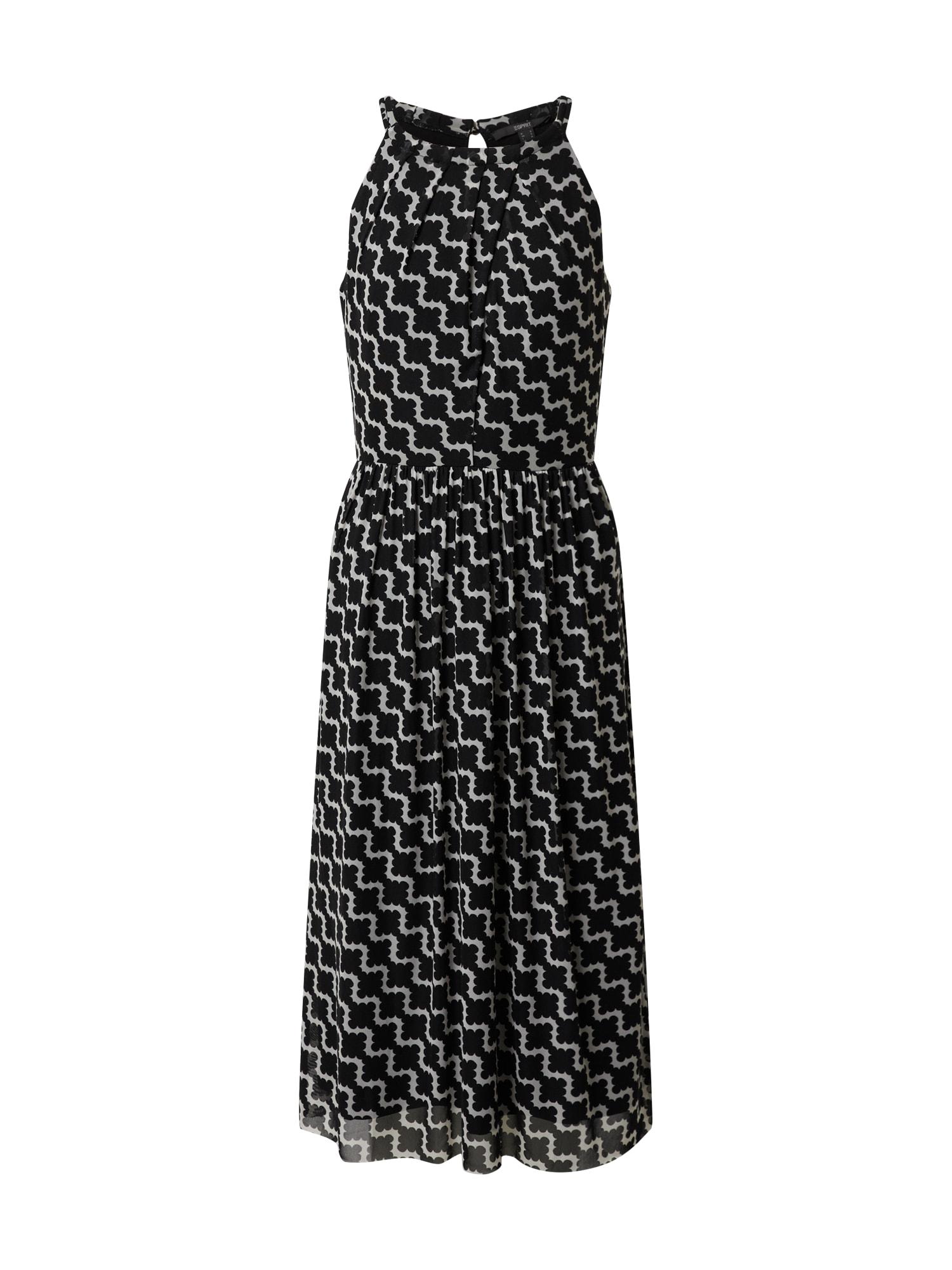 Esprit Collection Suknelė balkšva / juoda