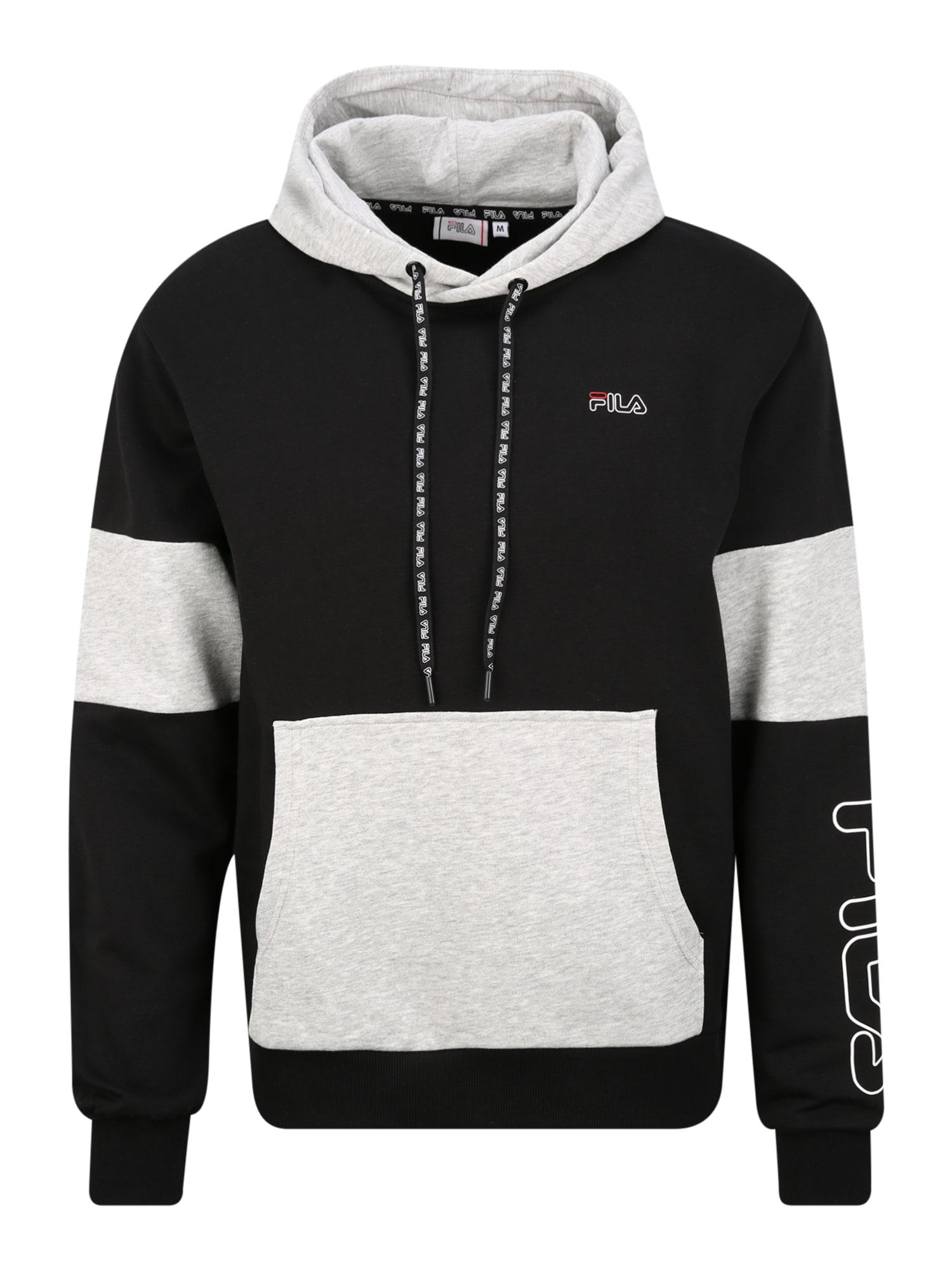 FILA Sportinio tipo megztinis 'LAWRENCE' šviesiai pilka / juoda