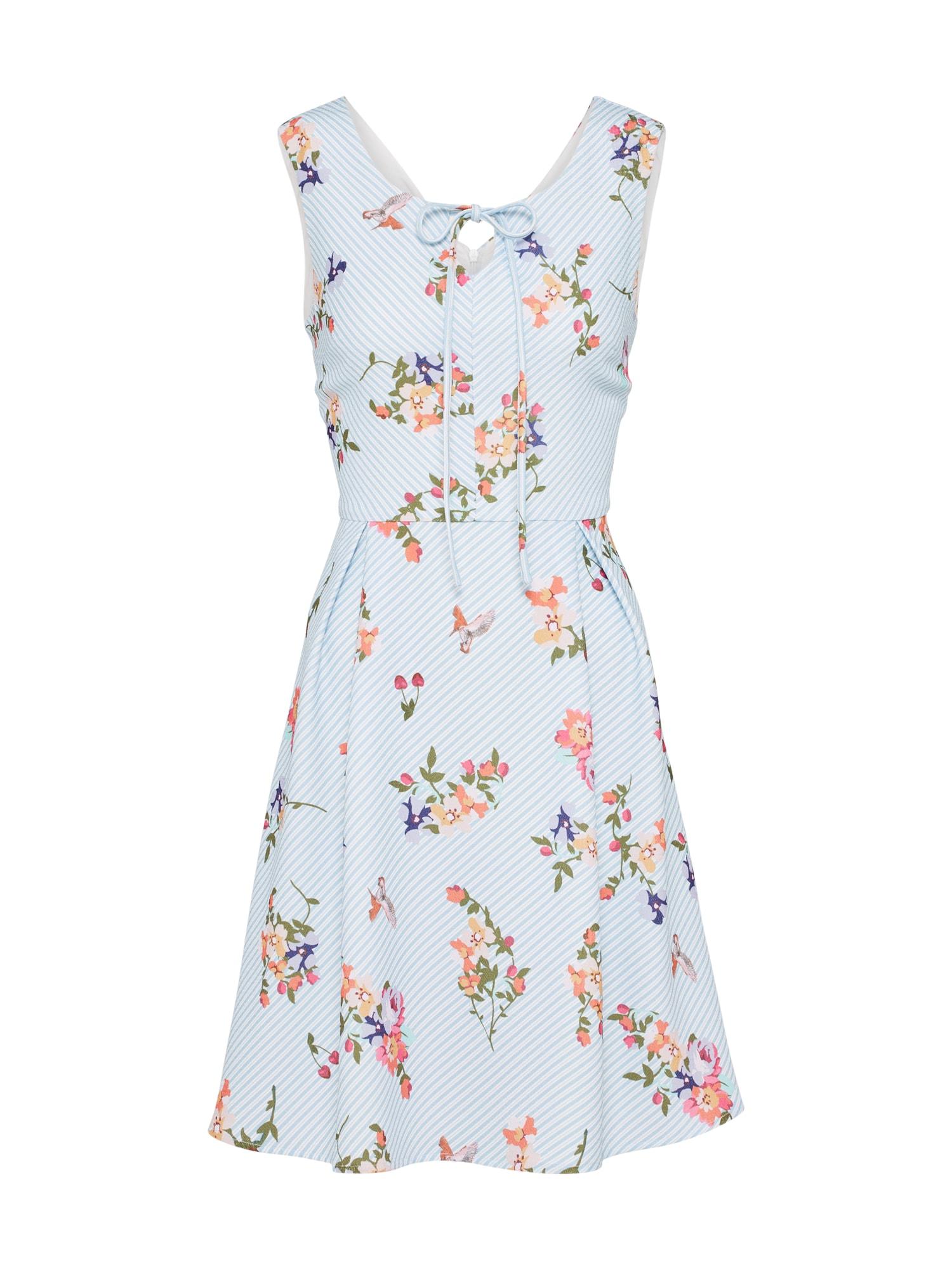 Letní šaty French Stripe světlemodrá meruňková Yumi