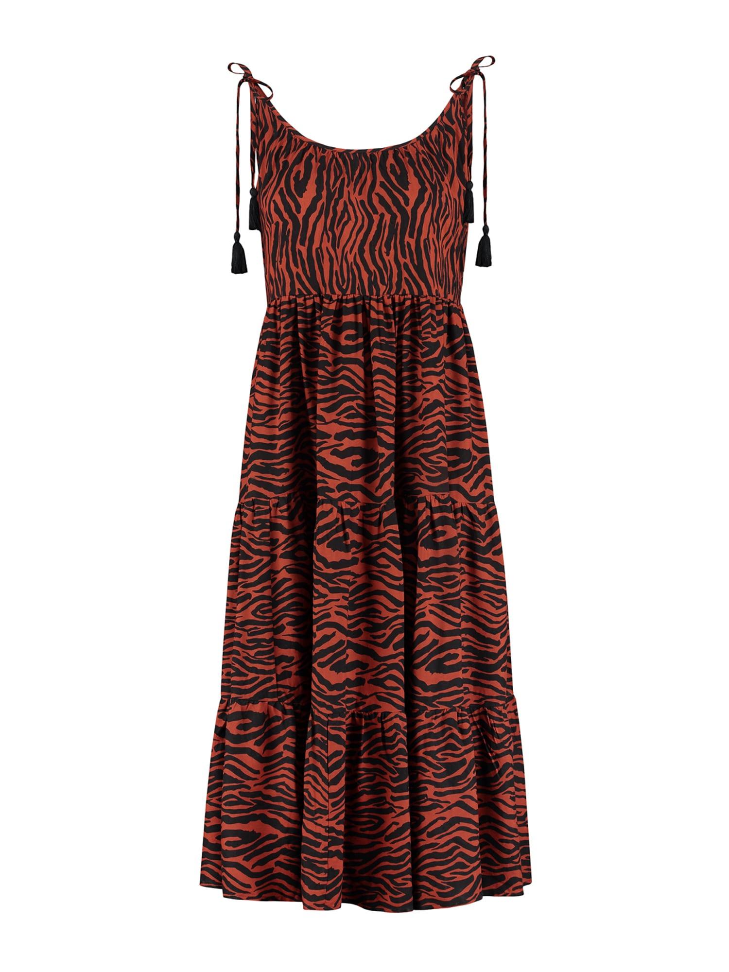 Shiwi Paplūdimio suknelė tamsiai raudona / juoda