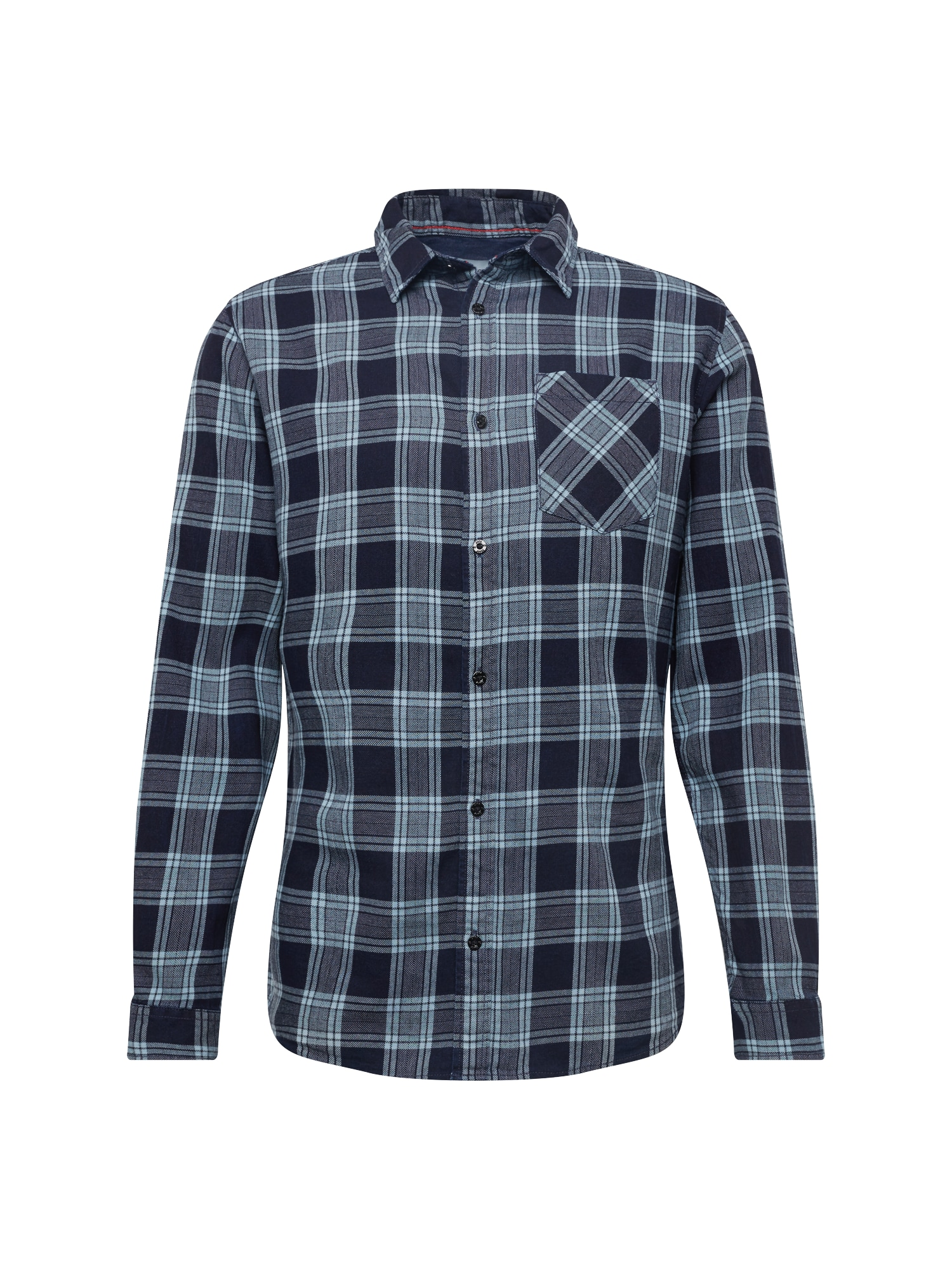 Košile JCOLLOYD SHIRT LS CHECK tmavě modrá JACK & JONES