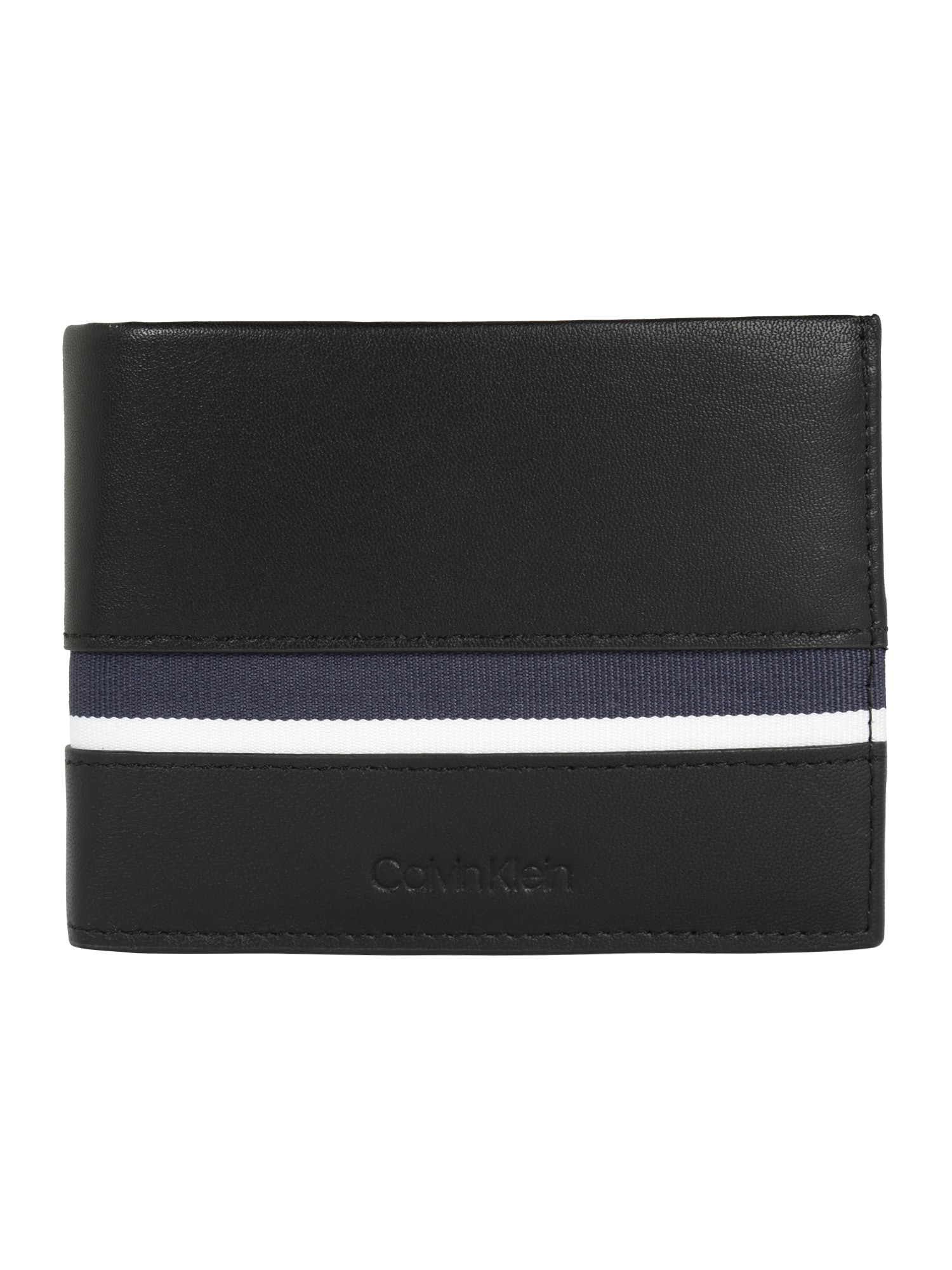 fc820727639 Calvin Klein Heren Portemonnee Stripe 5Cc Coin Zwart calvin klein kopen in  de aanbieding