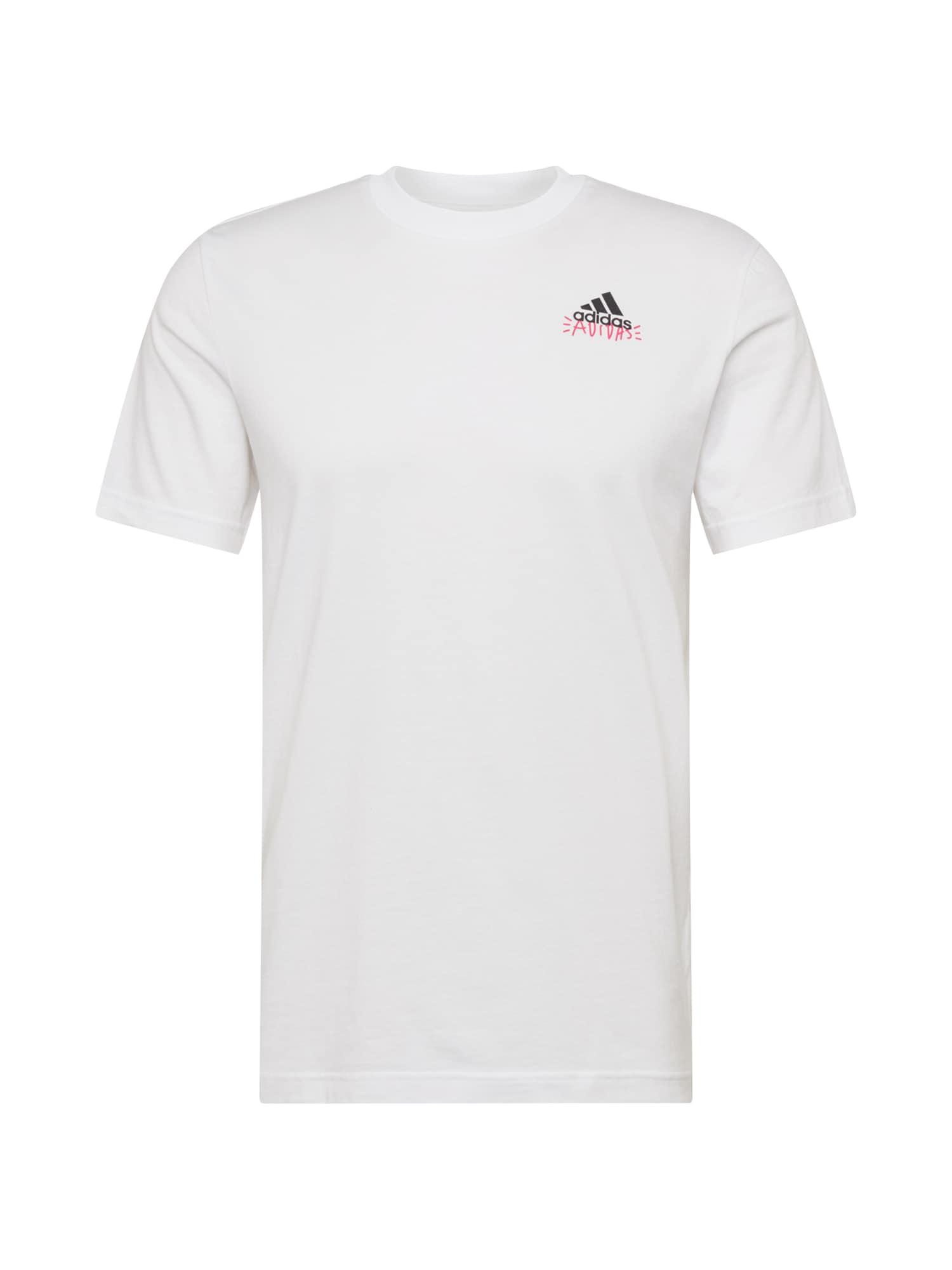 ADIDAS PERFORMANCE Sportiniai marškinėliai 'Doodle Emblem' balta