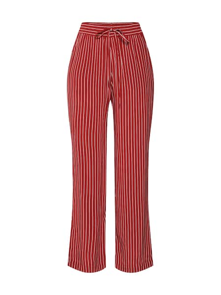 Hosen - Hose 'STRIPE WIDE LEG TROUSER' › Whistles › weinrot  - Onlineshop ABOUT YOU