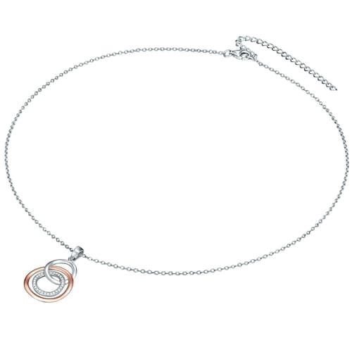Ketten für Frauen - Rafaela Donata Halskette mit Drei Ringe Anhänger rosegold silber transparent  - Onlineshop ABOUT YOU