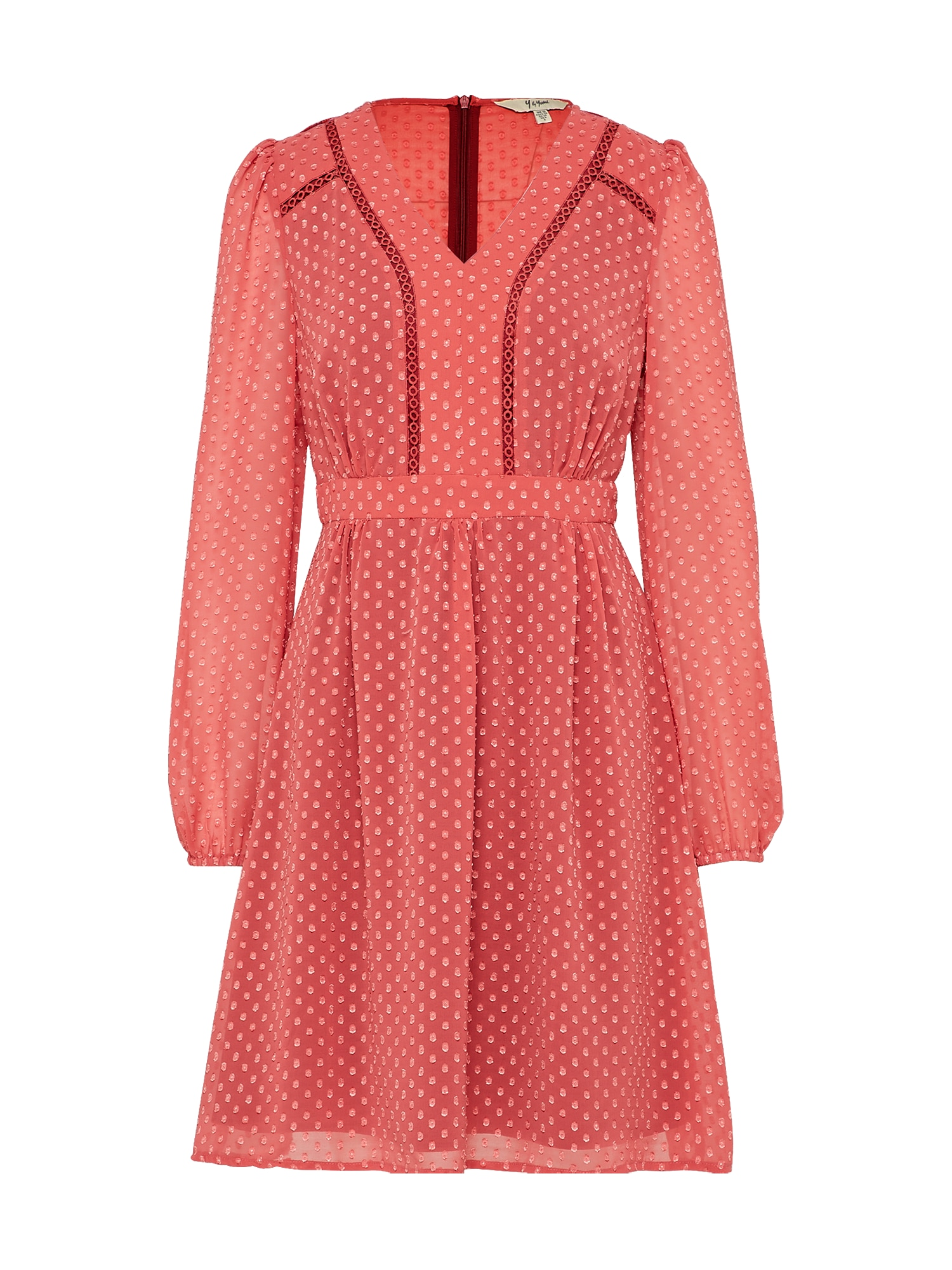 Šaty Dobby Spot meruňková Yumi