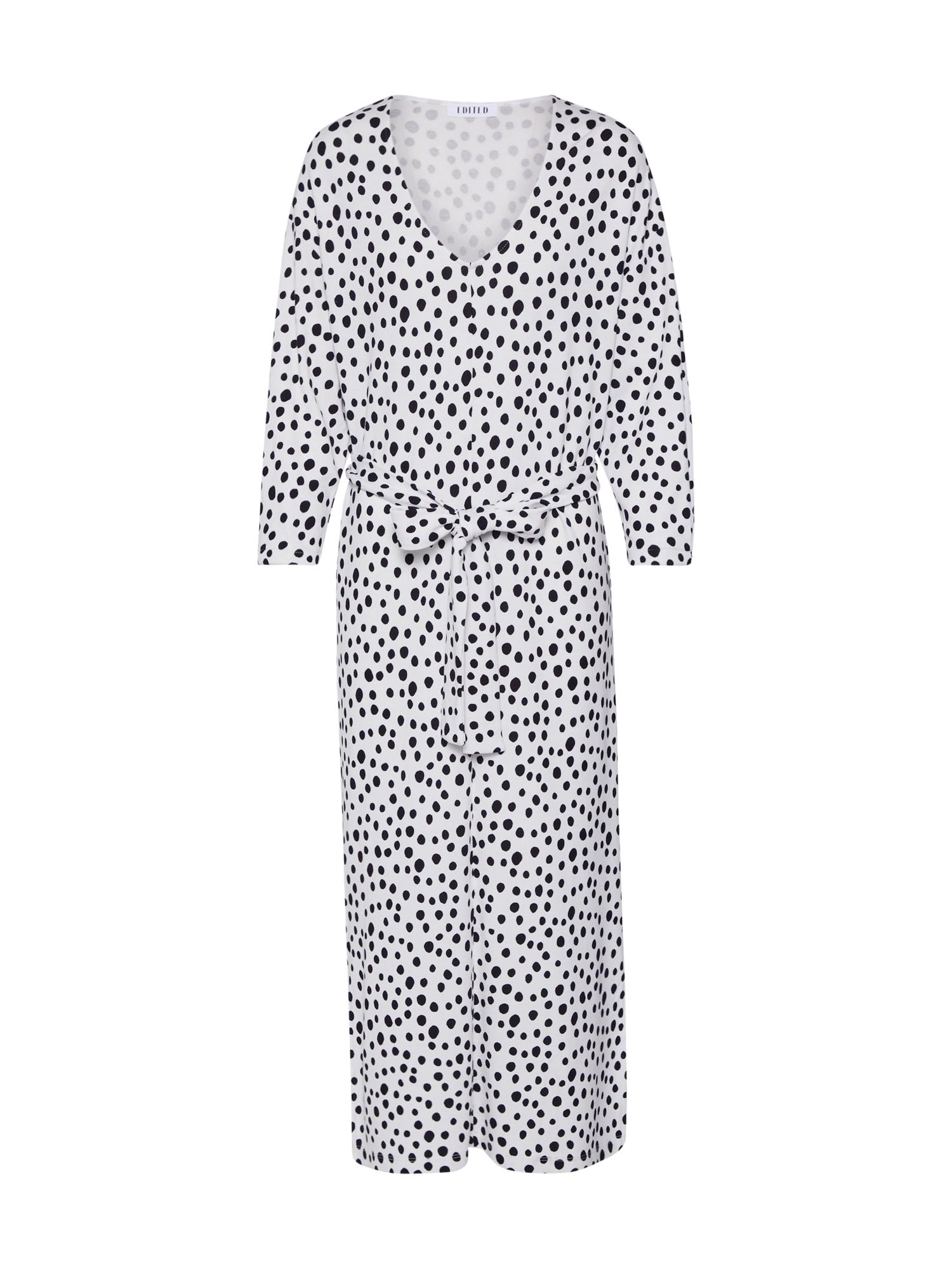 EDITED Palaidinės tipo suknelė 'Zavier' balta / juoda