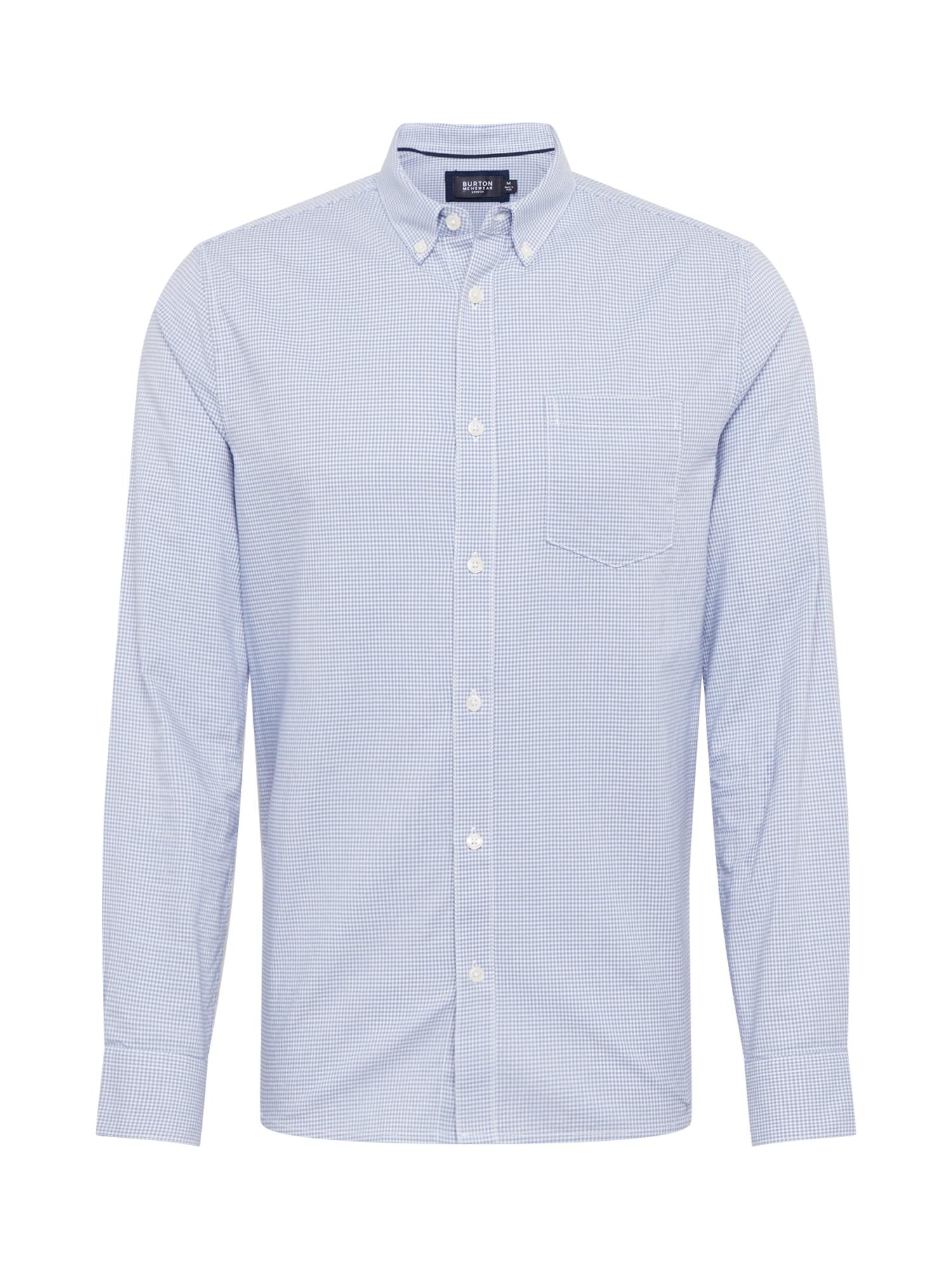 BURTON MENSWEAR LONDON Marškiniai mėlyna / balta