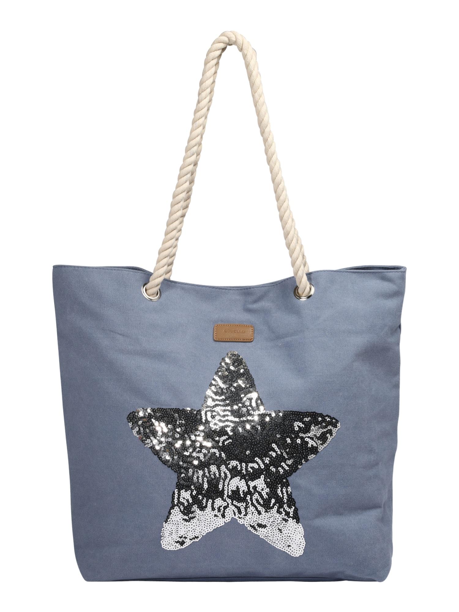 Nákupní taška chladná modrá stříbrná CODELLO