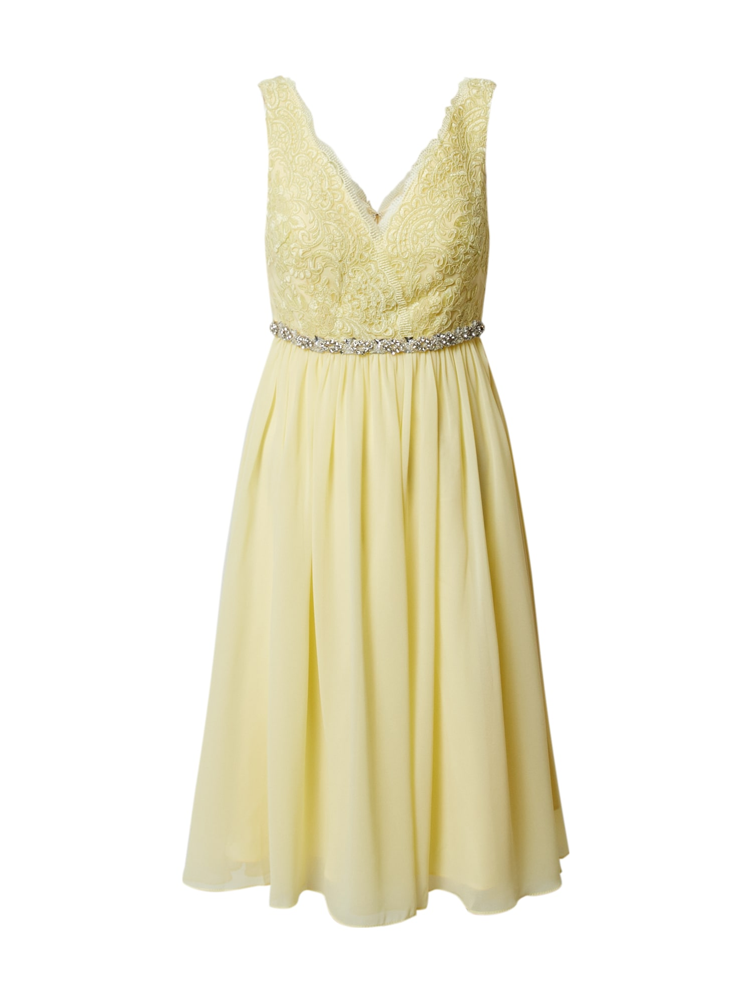 mascara Kokteilinė suknelė citrinos spalva