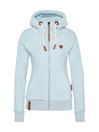 Naketano Damen Sweatshirtjacke aus Fleece Gigi Meroni blau   04060606042916