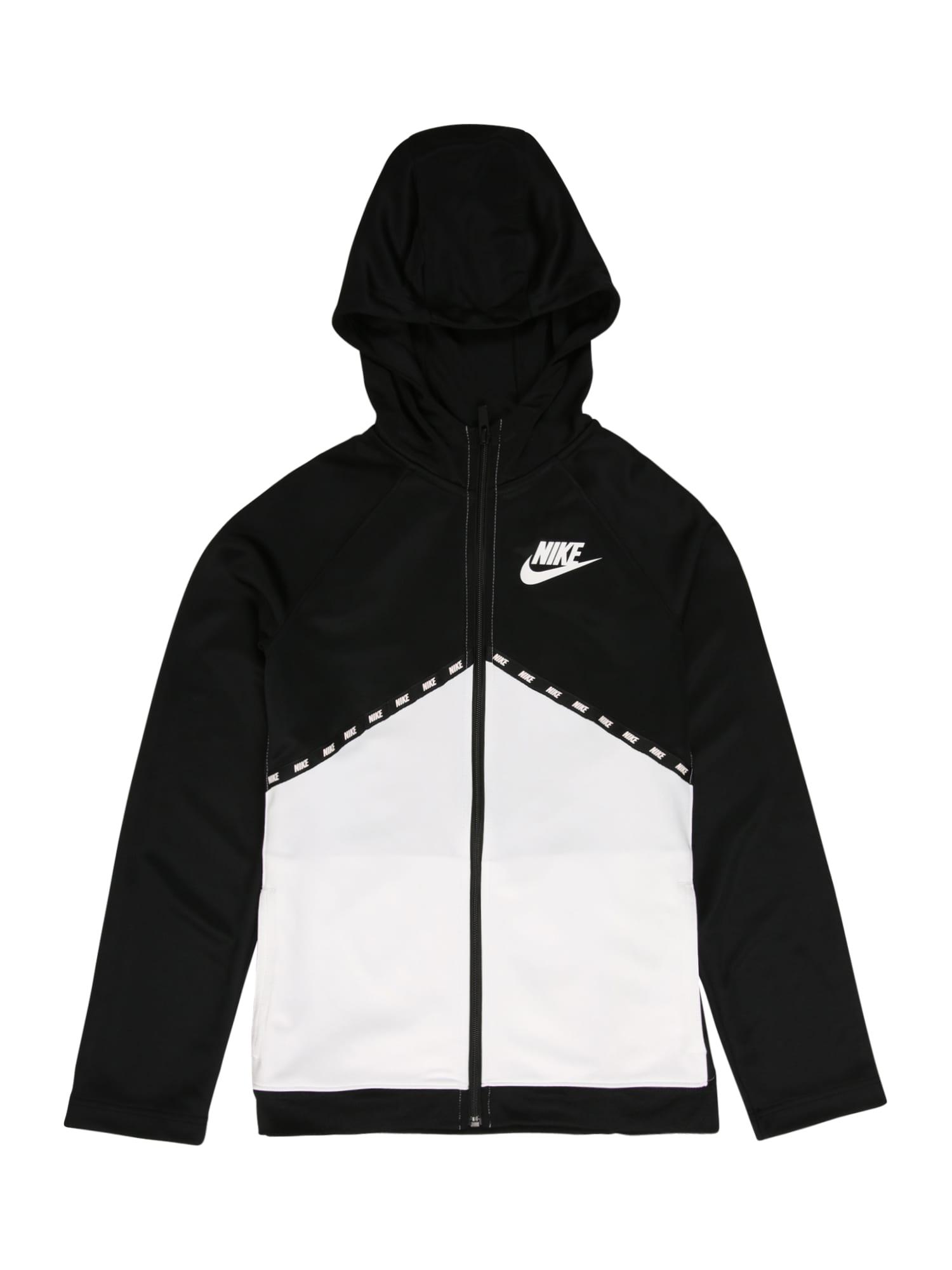 Nike Sportswear Džemperis balta / juoda