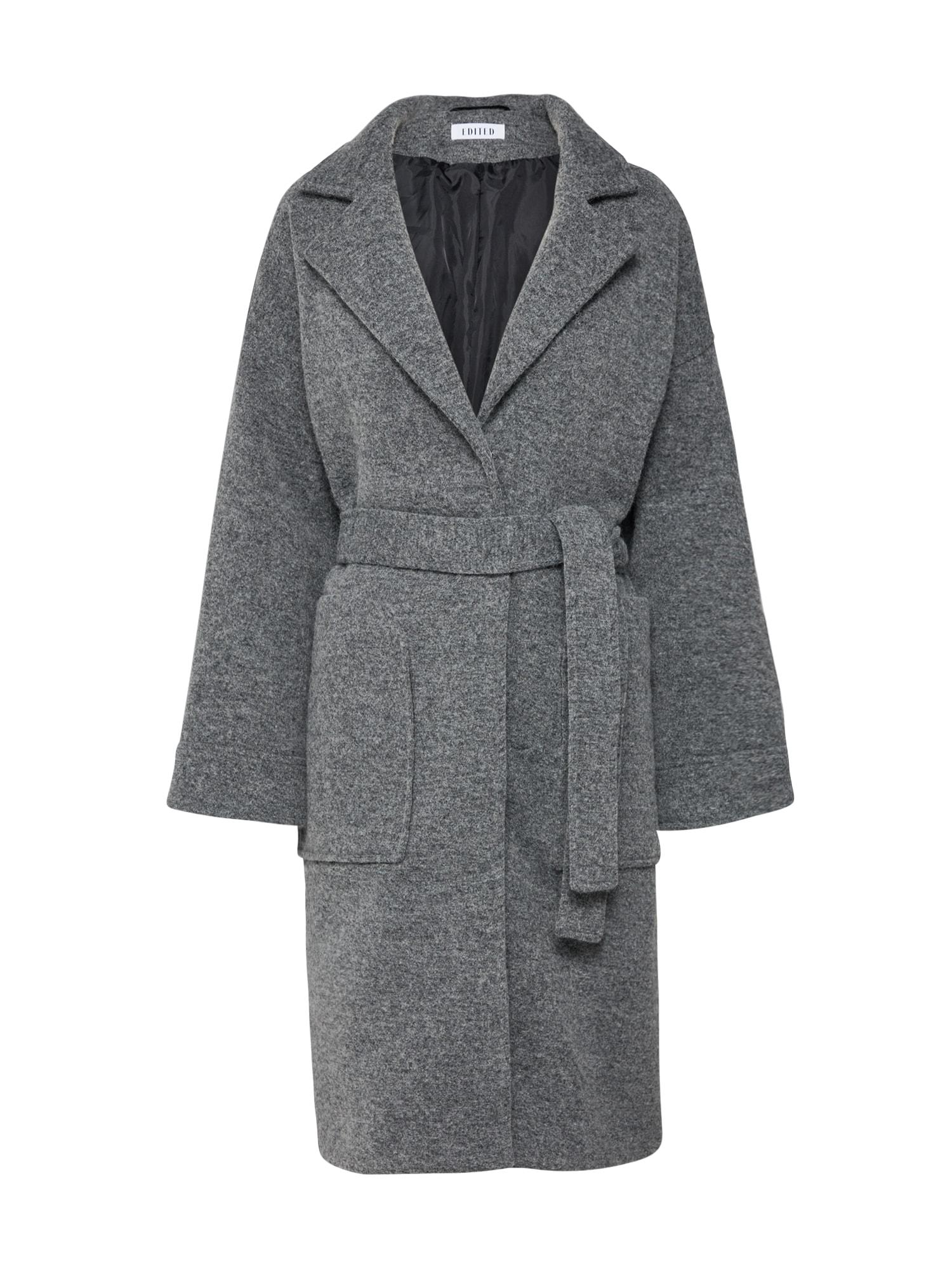 EDITED Žieminis paltas 'Casie' margai pilka