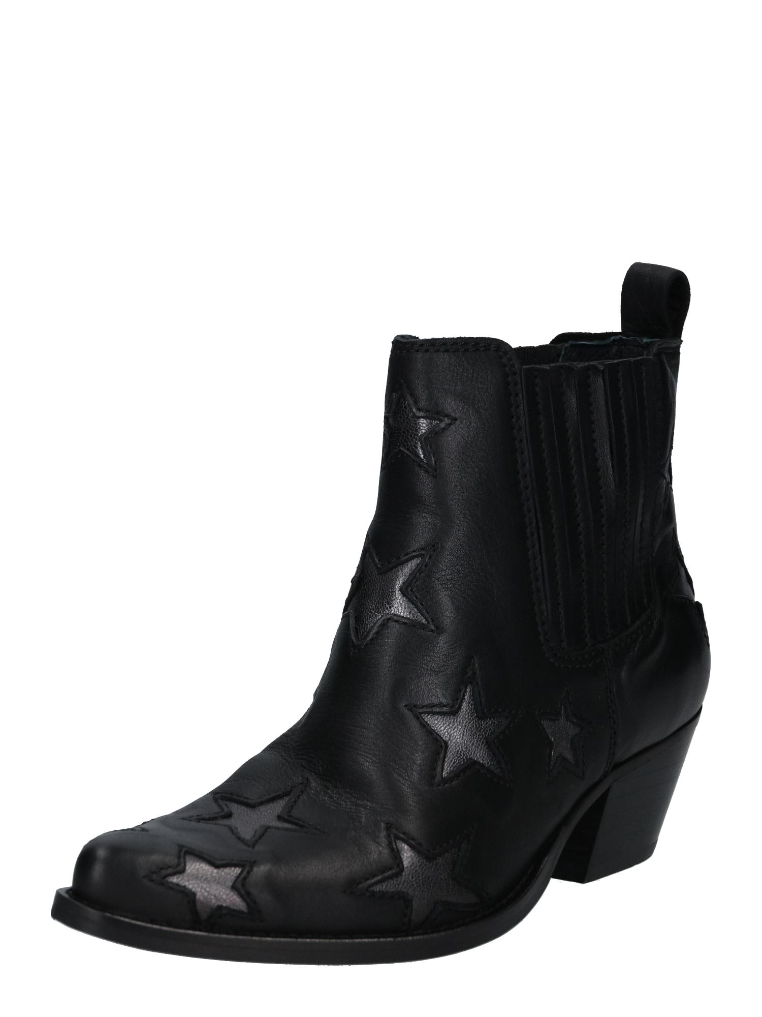 Apple of Eden Kovbojské boty 'Chrisy'  černá