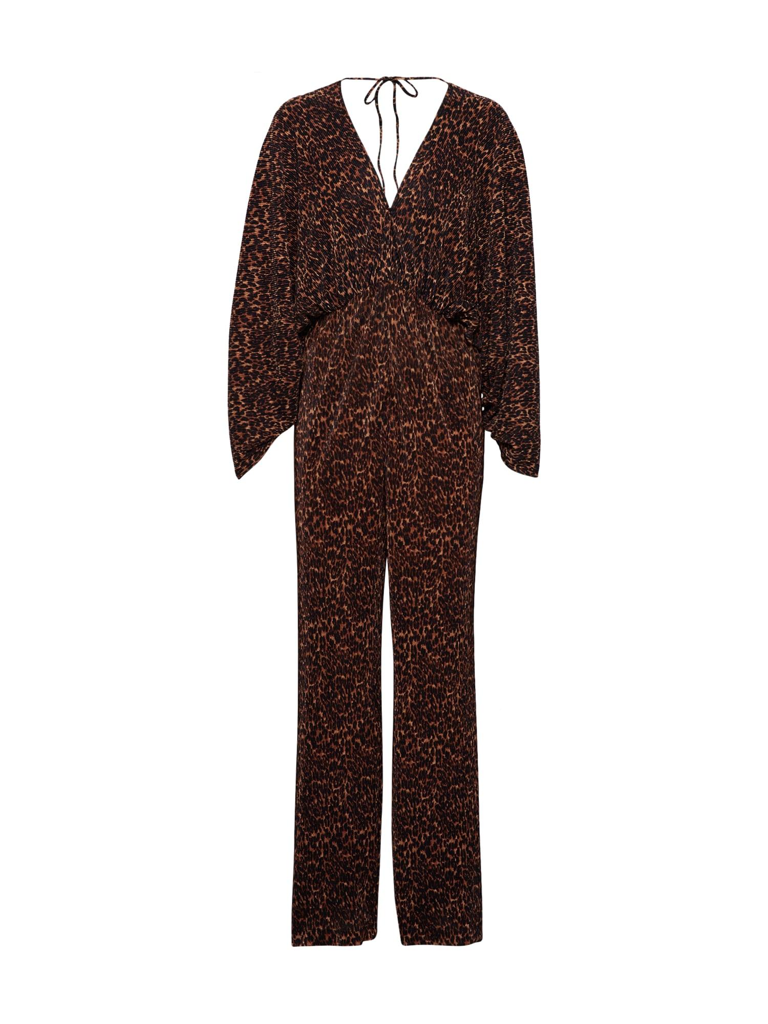 Bardot Kombinezono tipo kostiumas 'LEOPARD' ruda