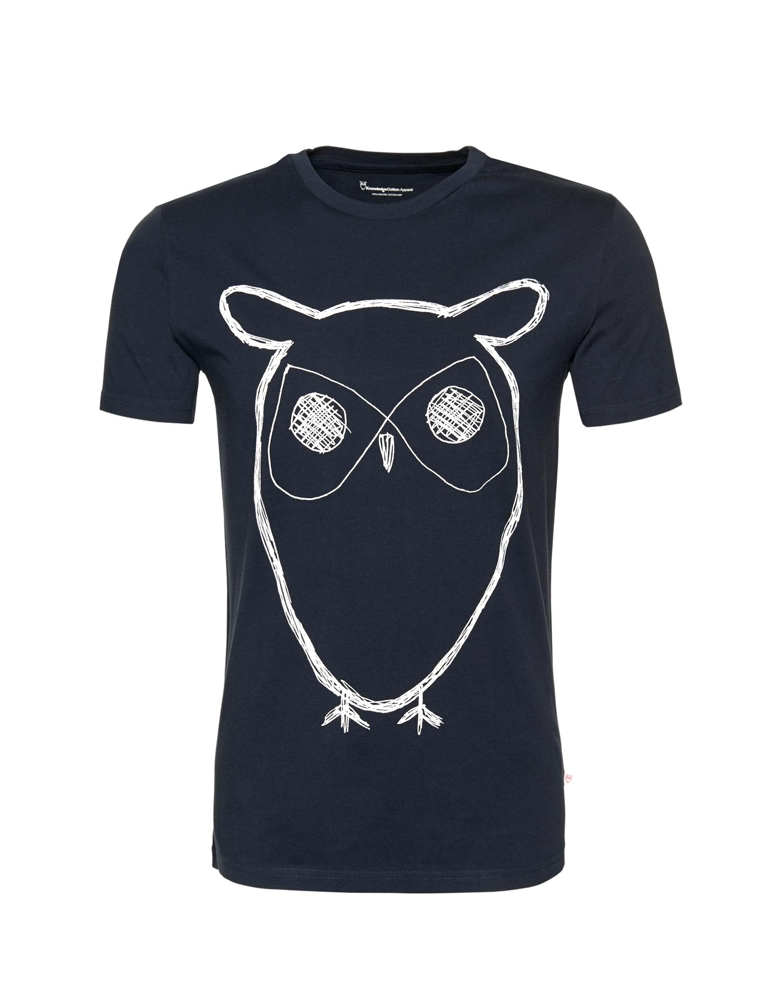 KnowledgeCotton Apparel Marškinėliai tamsiai mėlyna