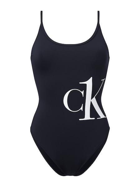Bademode - Badeanzug › Calvin Klein › weiß schwarz  - Onlineshop ABOUT YOU