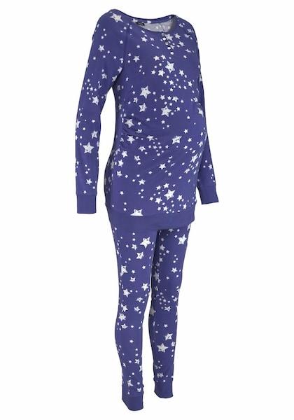 Schwangerschaftsmode - Umstandspyjama › MARIE CLAIRE › neonlila weiß  - Onlineshop ABOUT YOU
