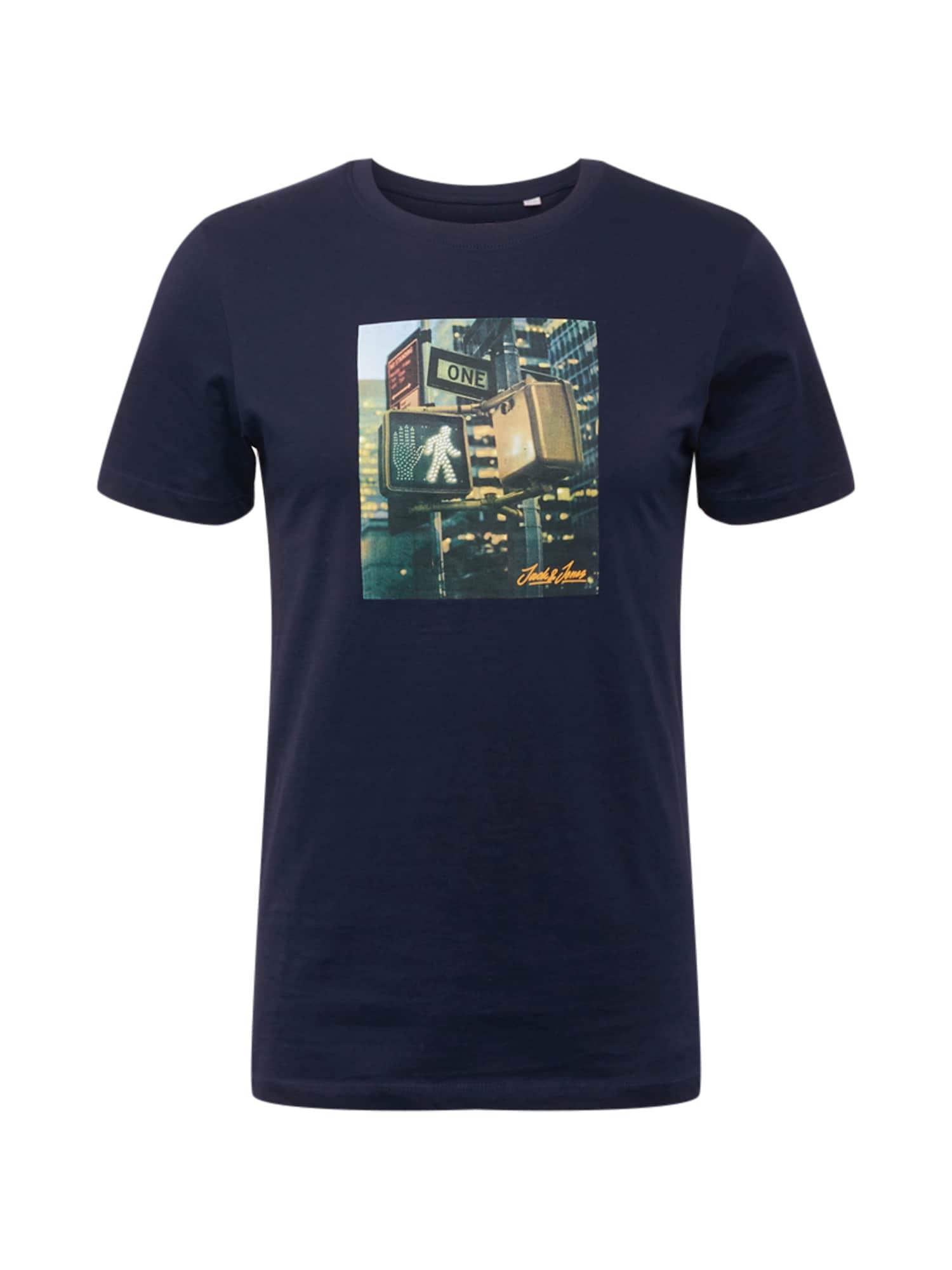 JACK & JONES Tričko 'BARISTA'  námořnická modř / světle hnědá / černý melír / bílá / trávově zelená / chladná modrá