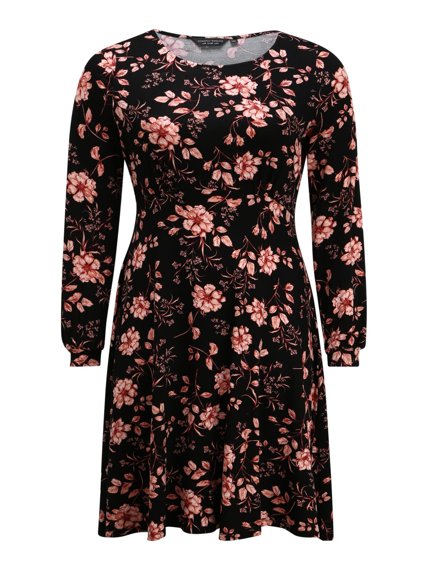 Dorothy Perkins Curve Suknelė rožių spalva / juoda