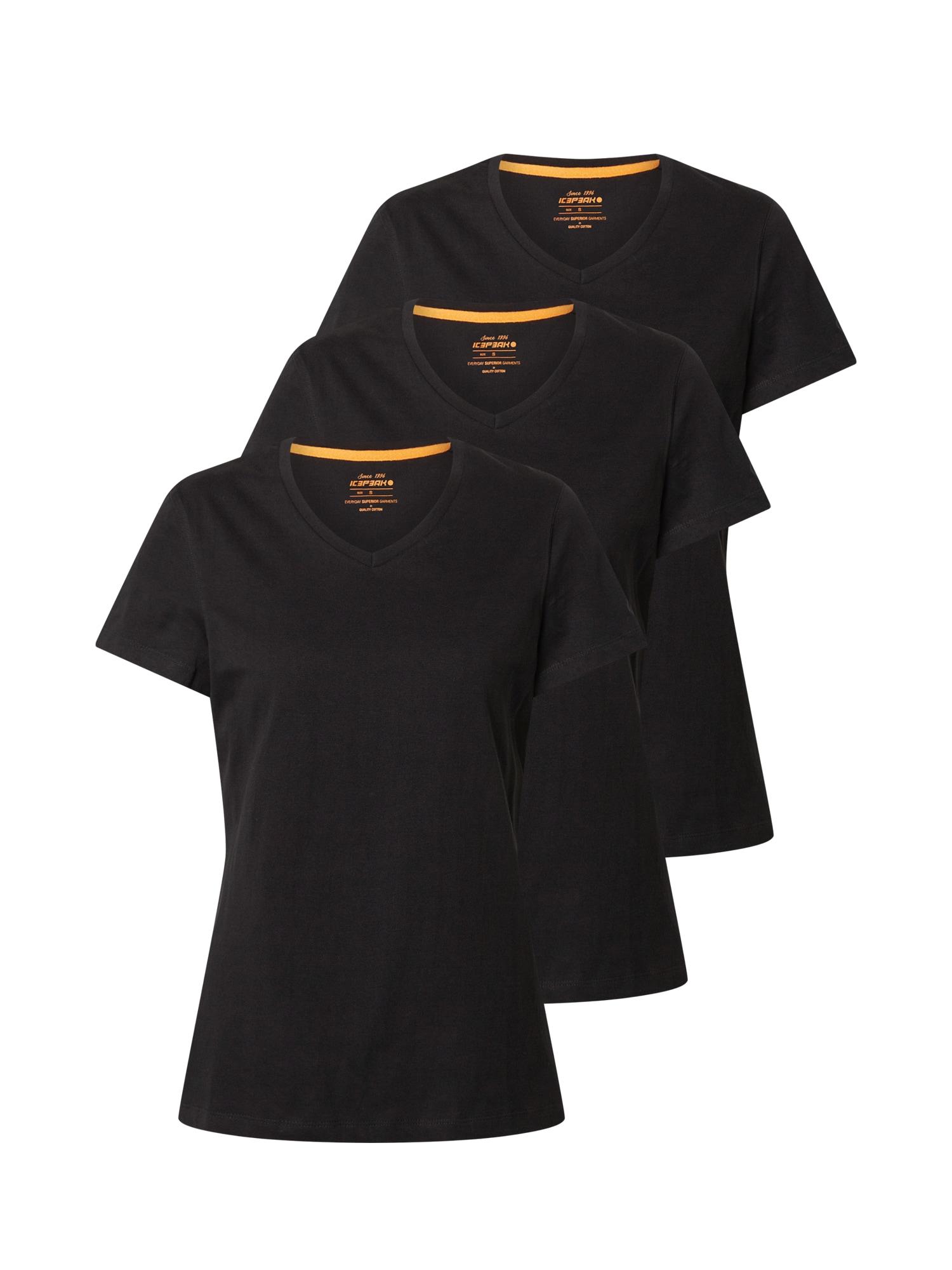 ICEPEAK Funkčné tričko 'Iona'  čierna