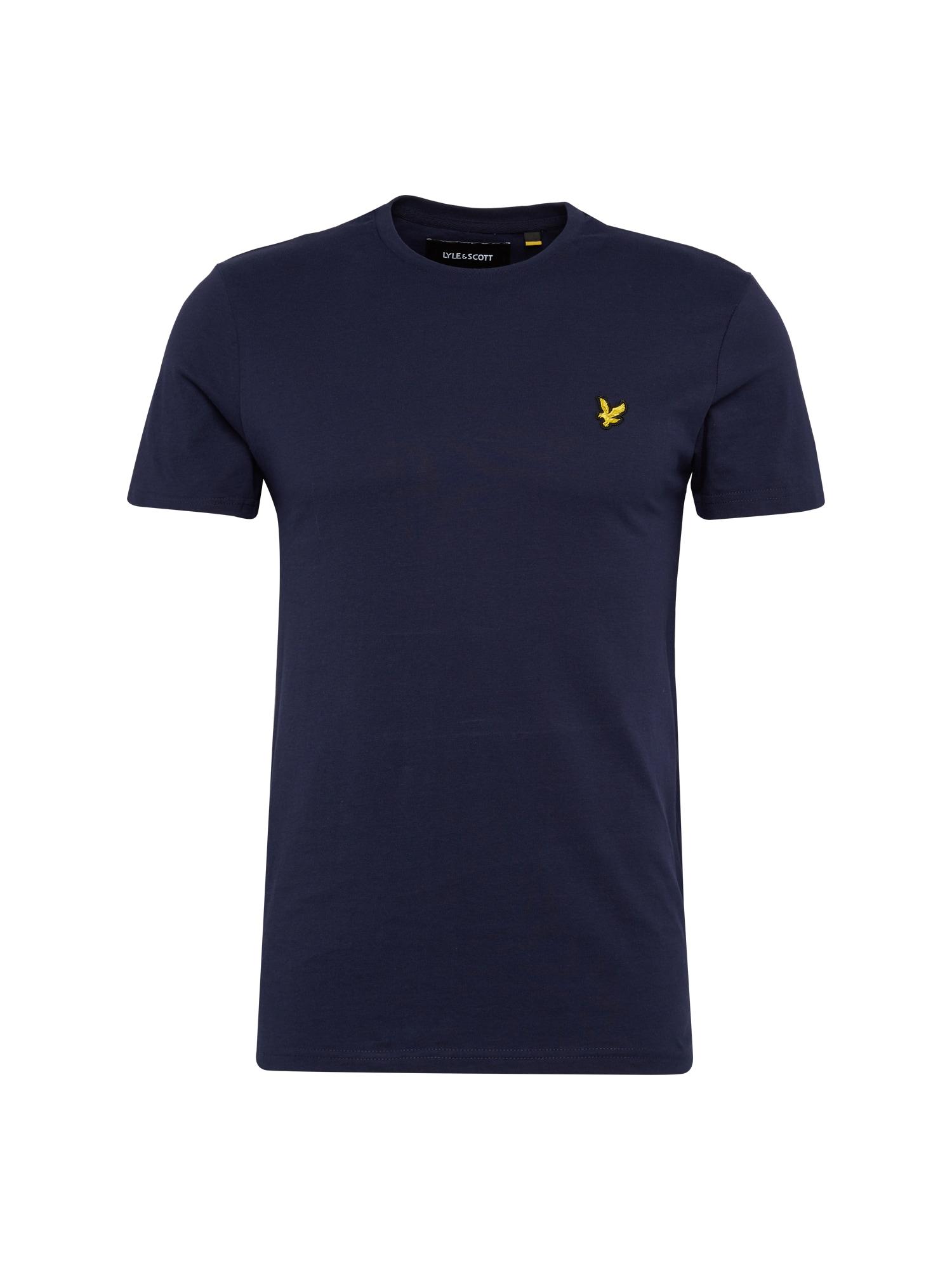 Lyle & Scott Marškinėliai tamsiai mėlyna / geltona